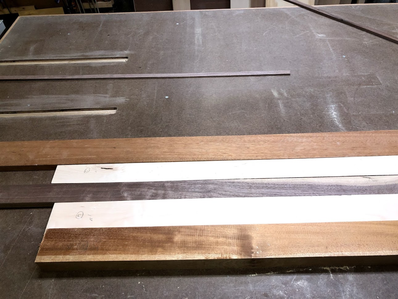 Here is the boards that I choose to use before I did anything to do, I needed to rip them at my table saw to the dimensions that I wanted.