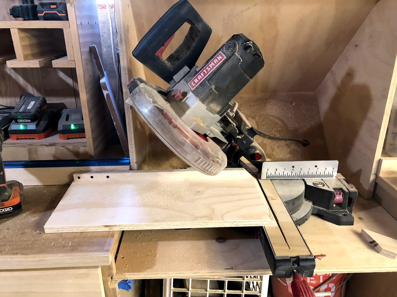 Miter Saw sled that I through together to help cut the miters