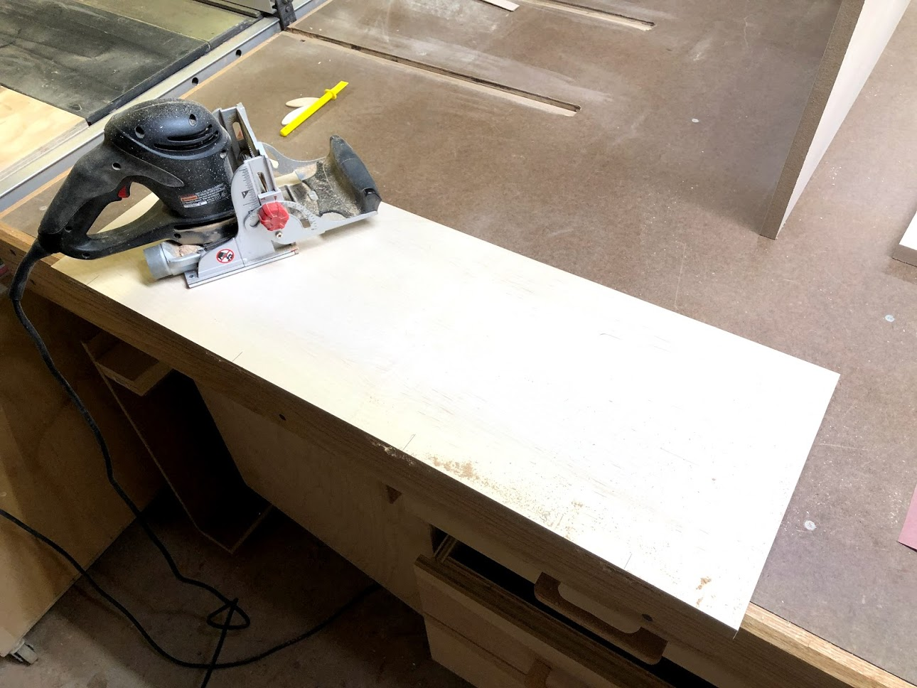 Here is my craftsman biscuit jointer I use this machine almost exclusively when edge banding.