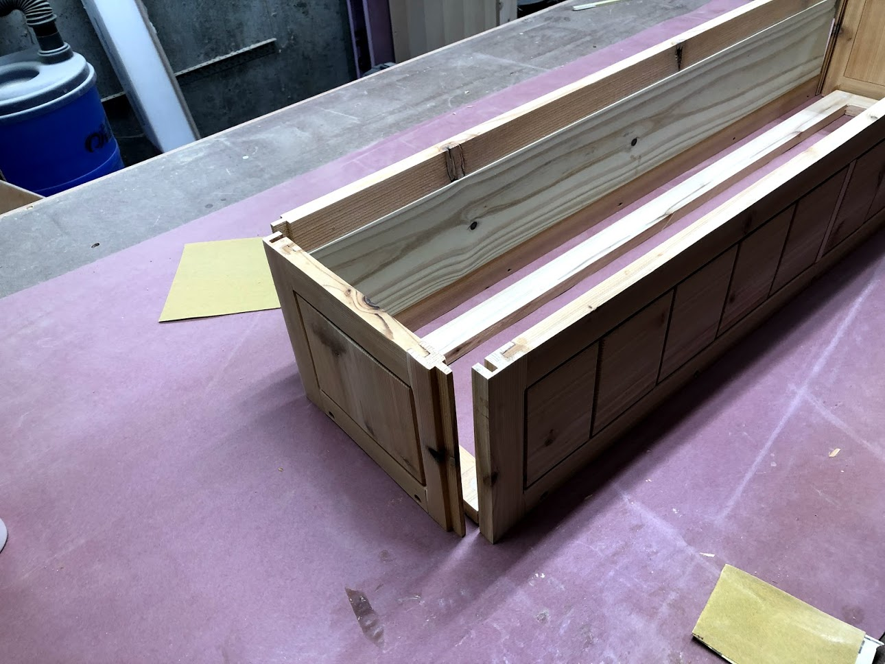 Here you can see how the back and front of the window box will fit into each other.