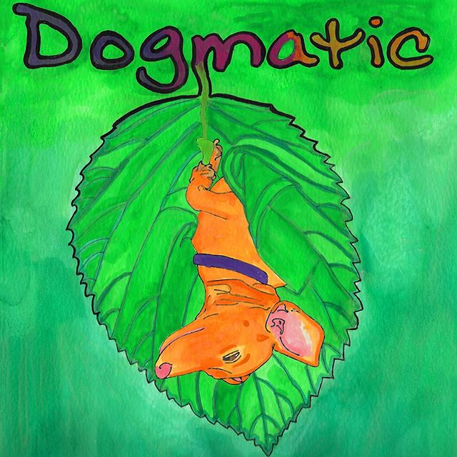Dogmatic #mfavn #watercolor #popupbook #drawing #painting #artistsofinstagram #leaf #dachshund #feelings #dogmatic