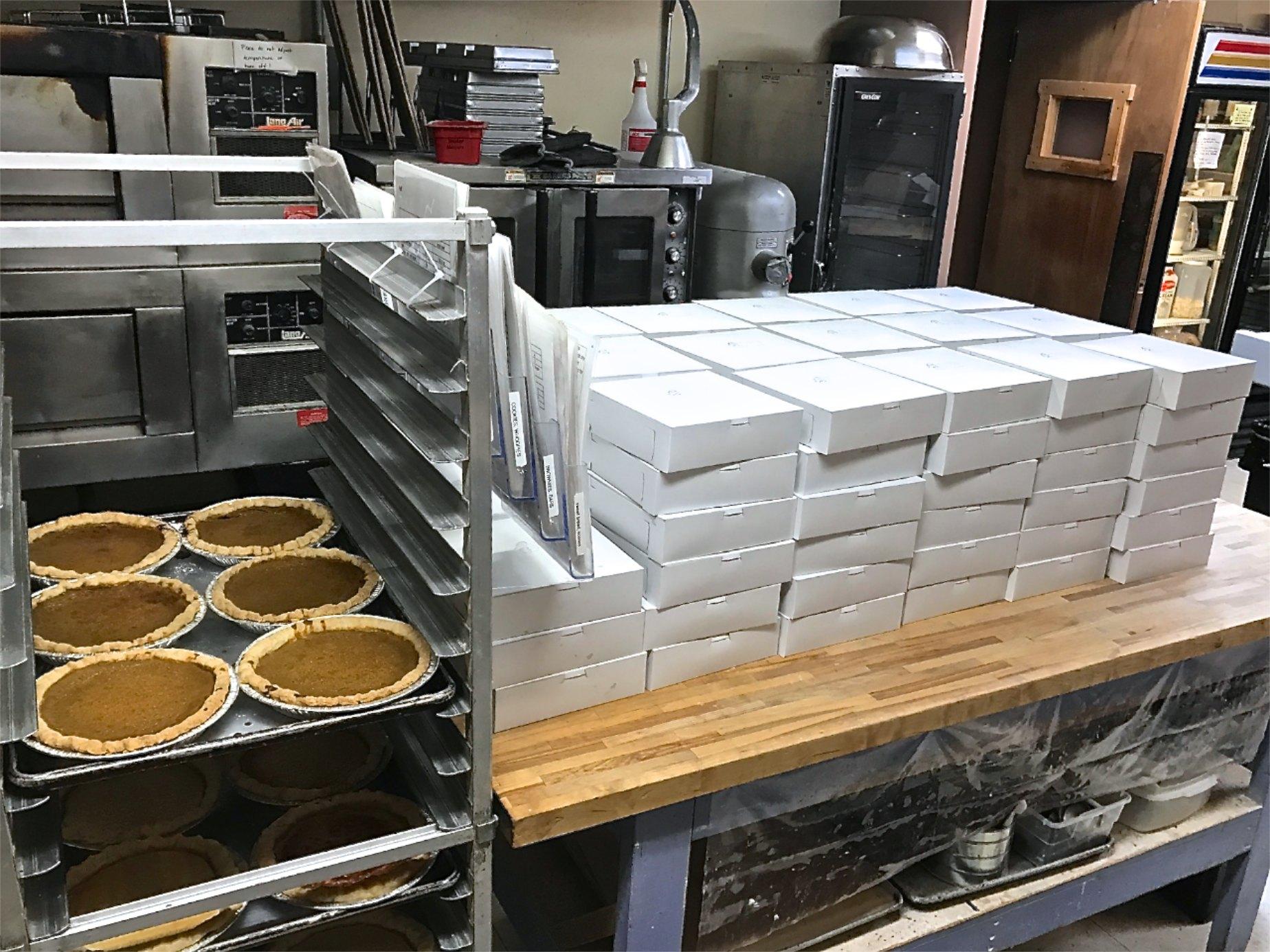 Neighbors Helping Neighbors holiday pie making marathon!