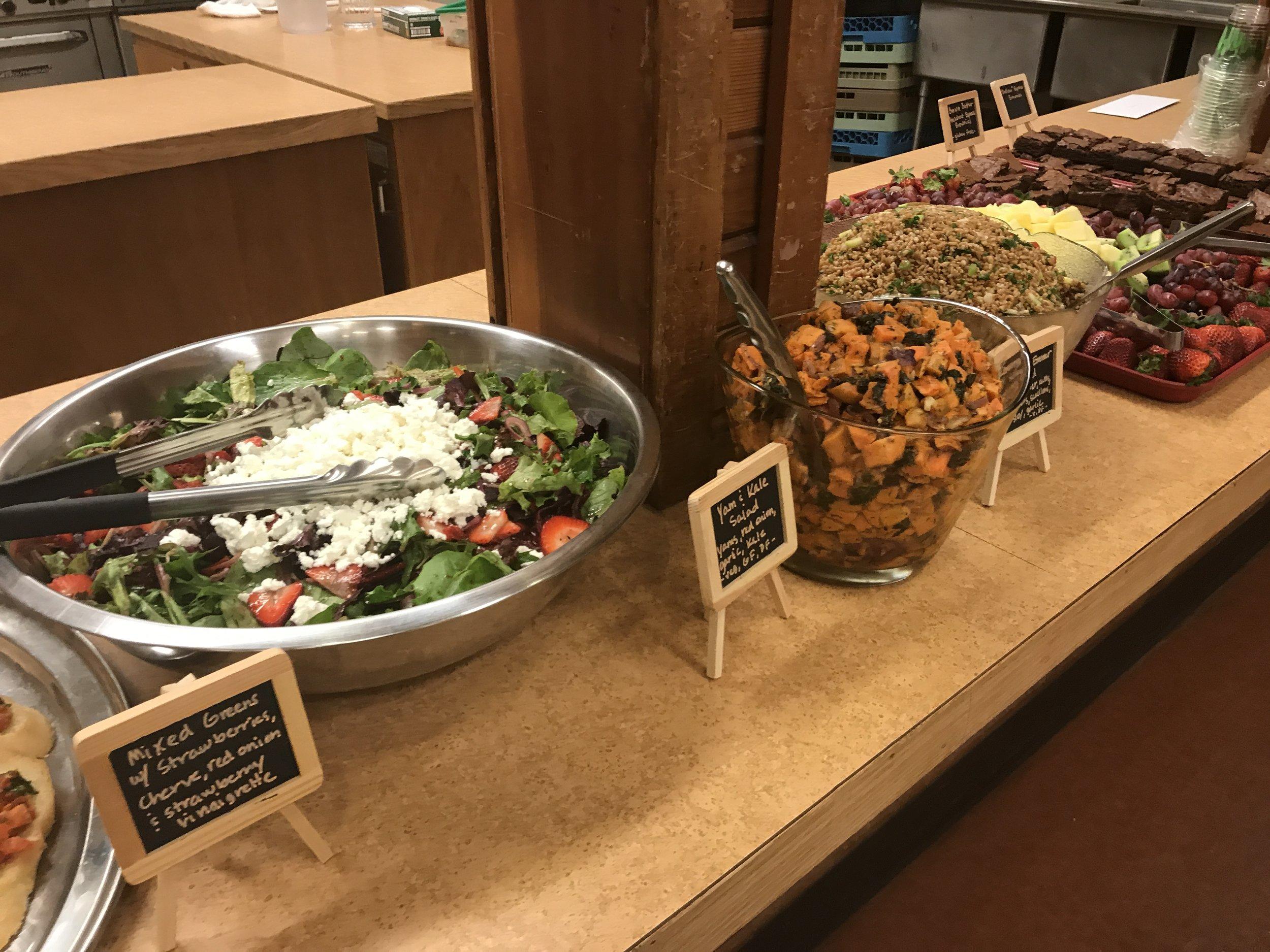 Salads abound!