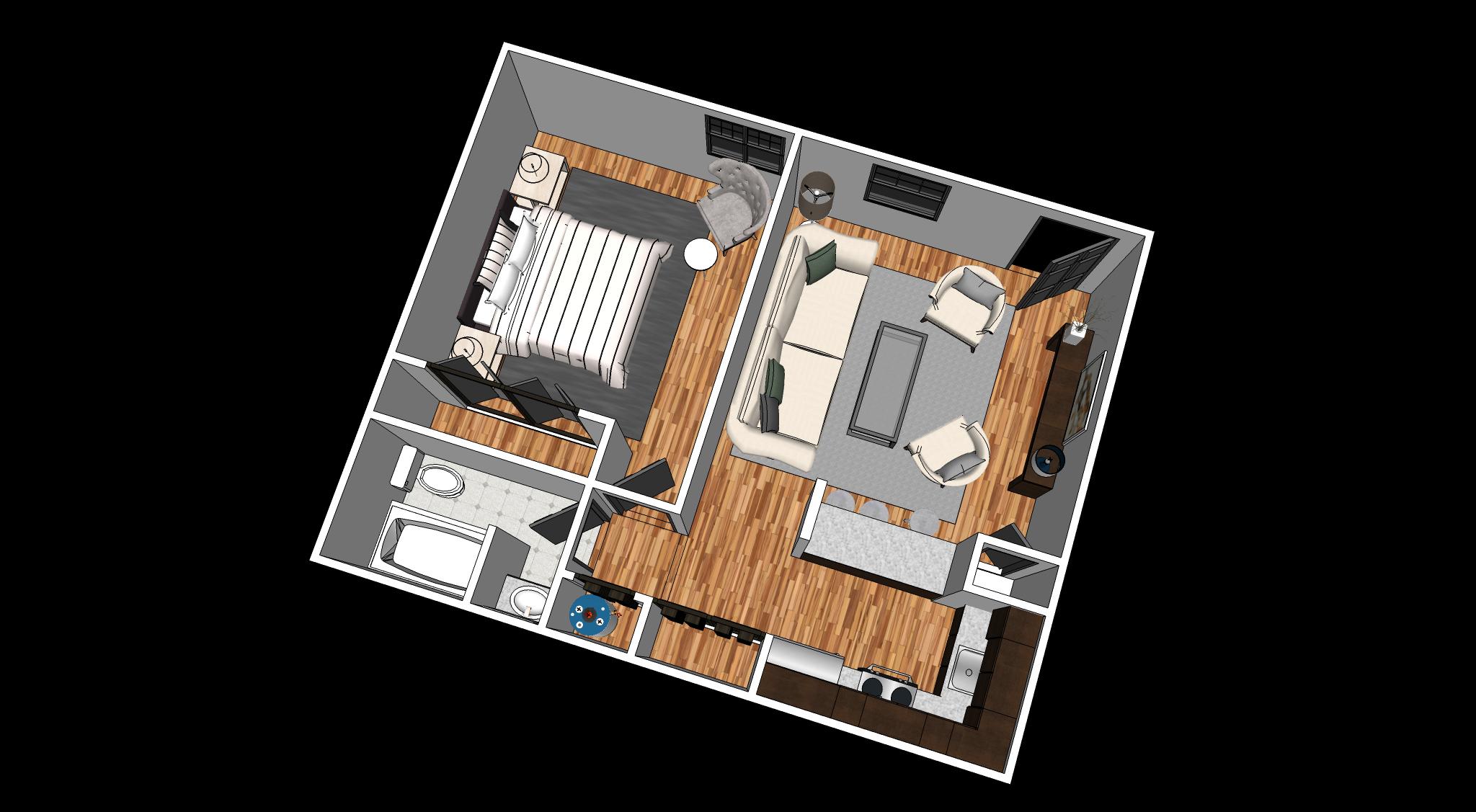 3d Floor Plans Ridgewood Apts Nashville