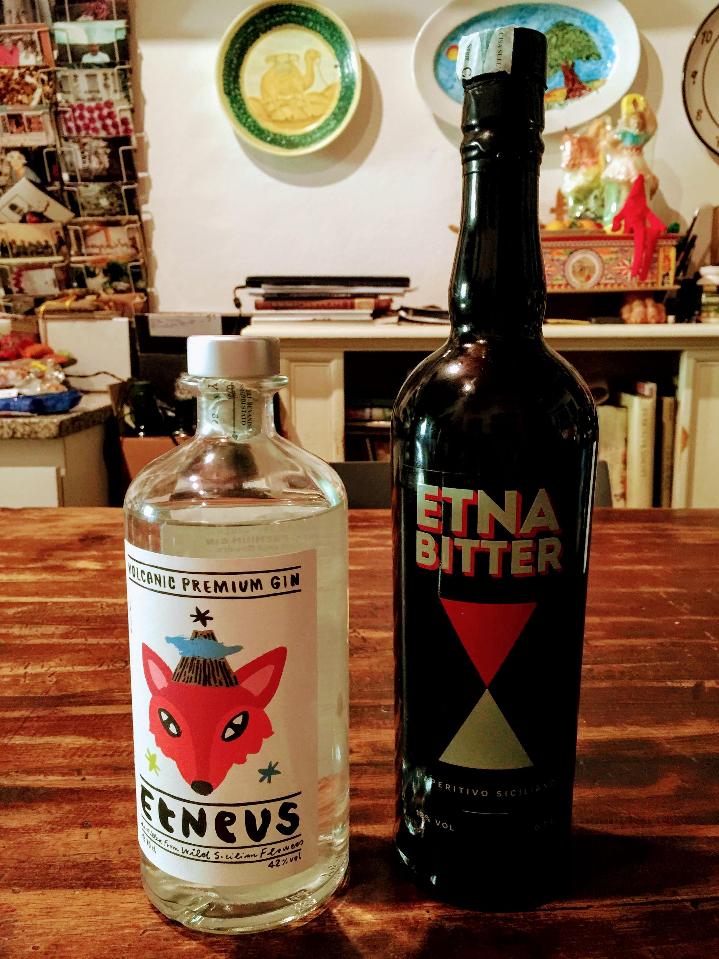 Etneus Volcanic Gin  and  Etna Bitter