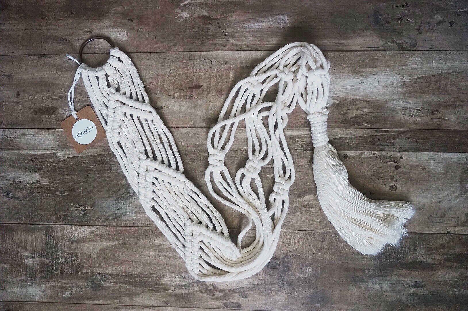 $20  |  Plant Hanger  |  Ivory    Made to Order