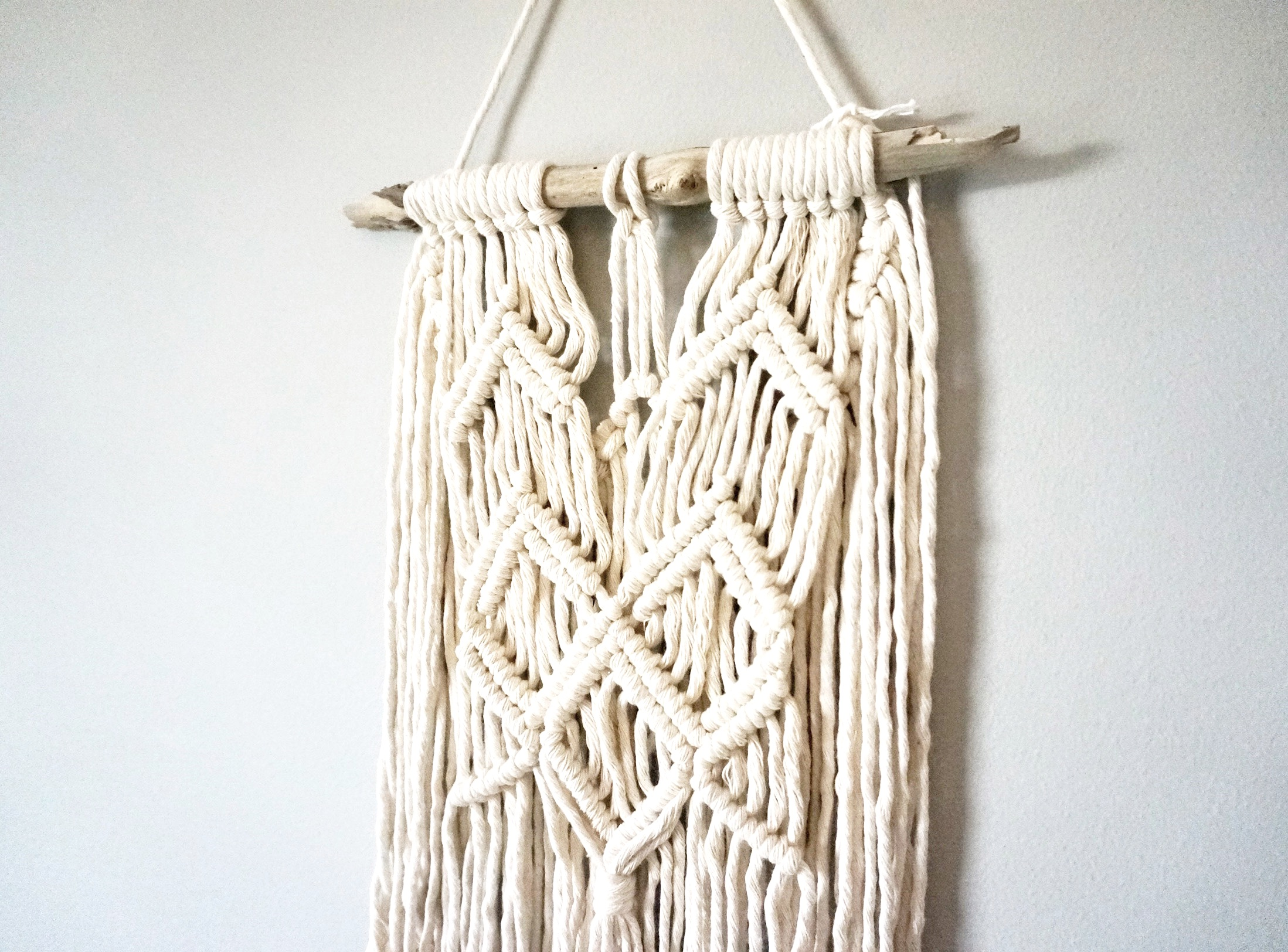 $45  |  Small Macrame Wall Hanging  |  Ivory