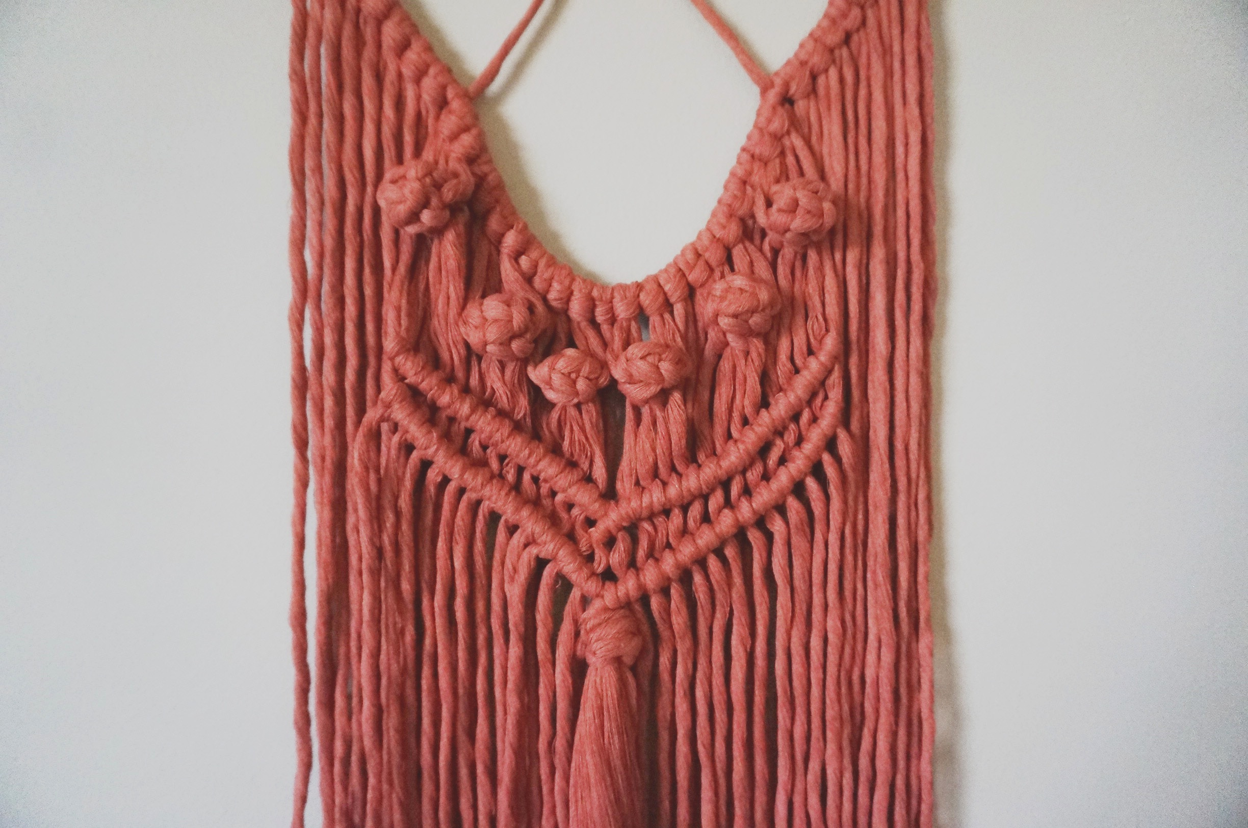 $52  |  Small Macrame Wall Hanging  |  Cinnamon