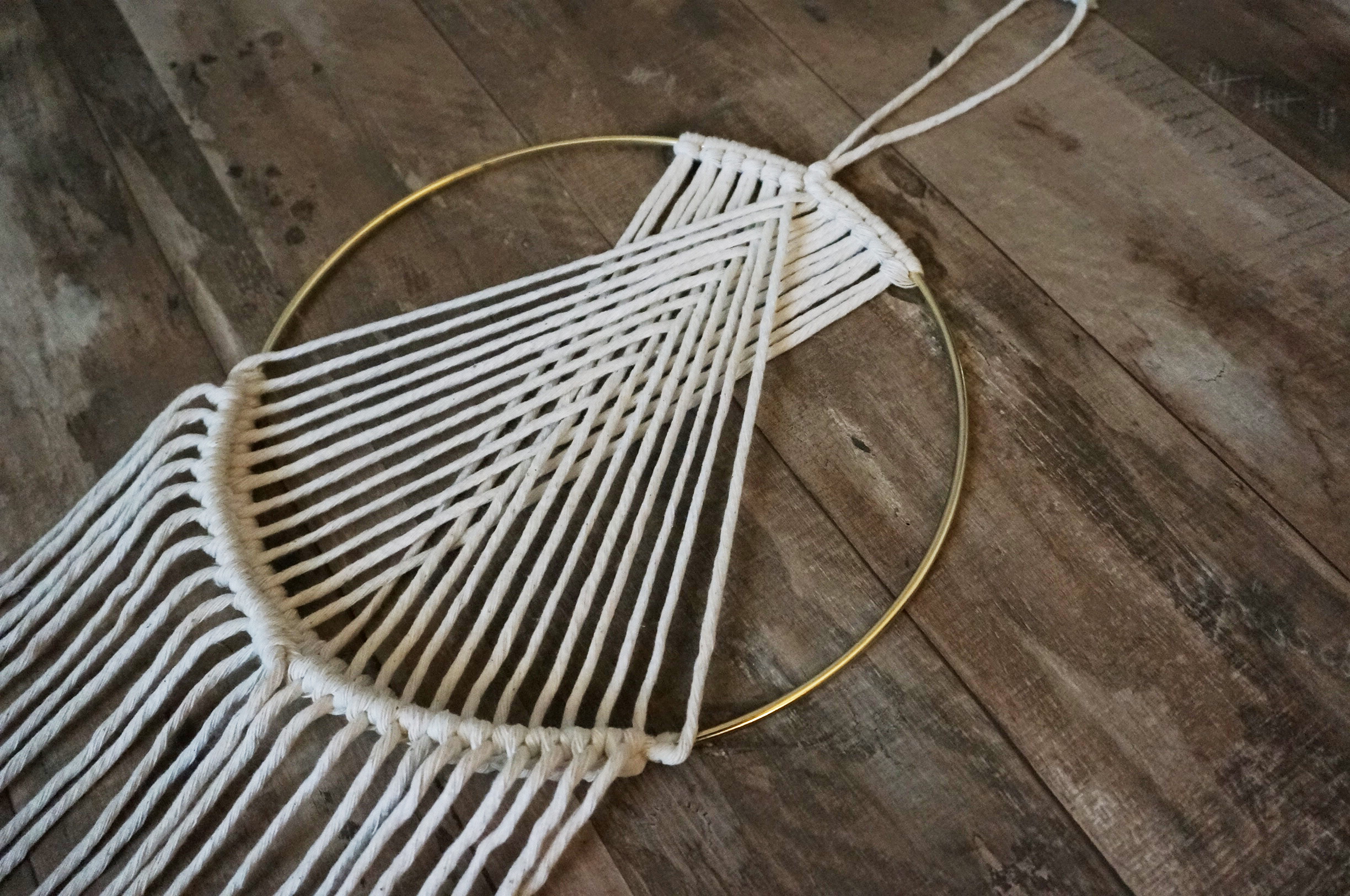 Art Deco Wall Hanging  |  Ivory & Gold