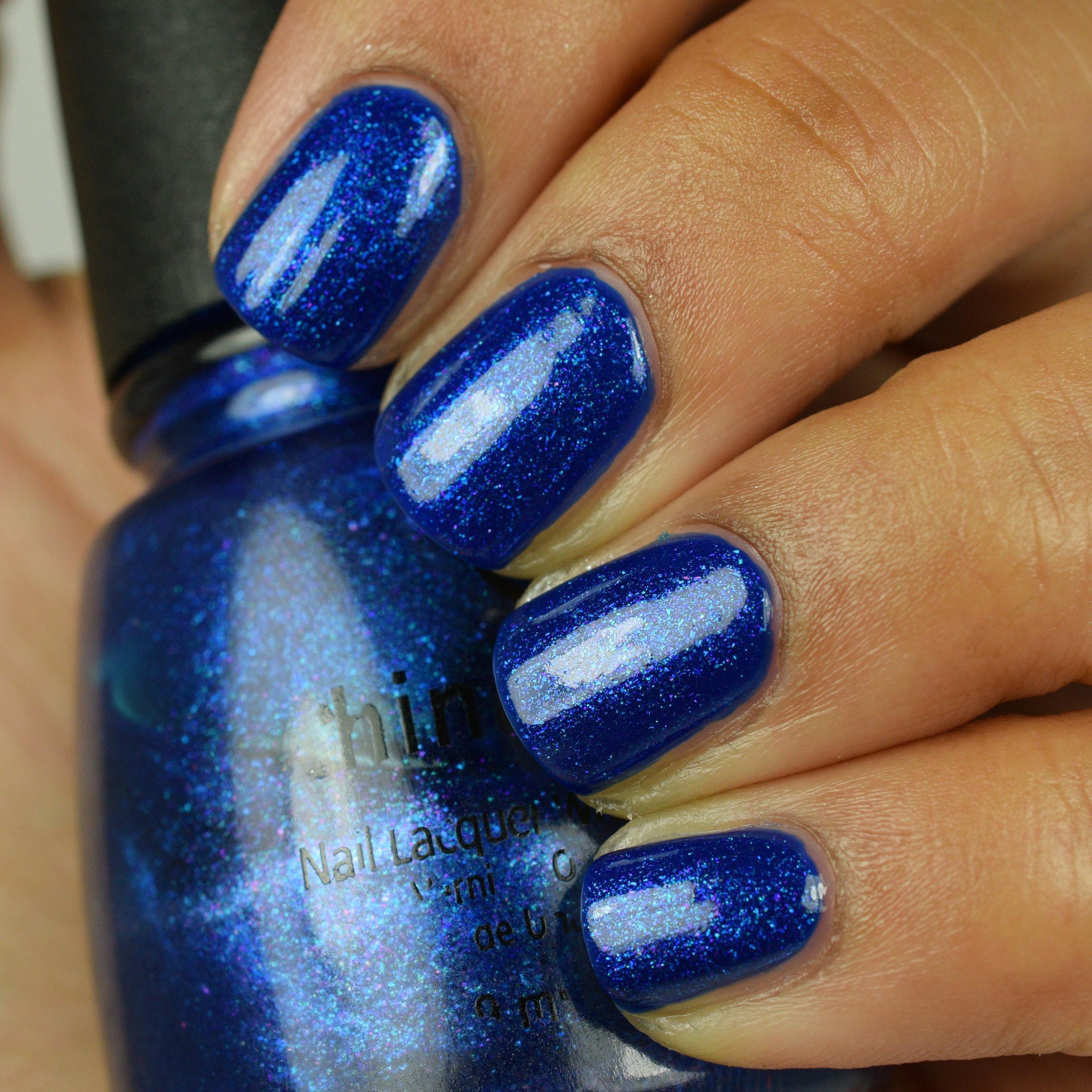 China Glaze Drinkin' My Blues Away over Dior Sailor.jpg