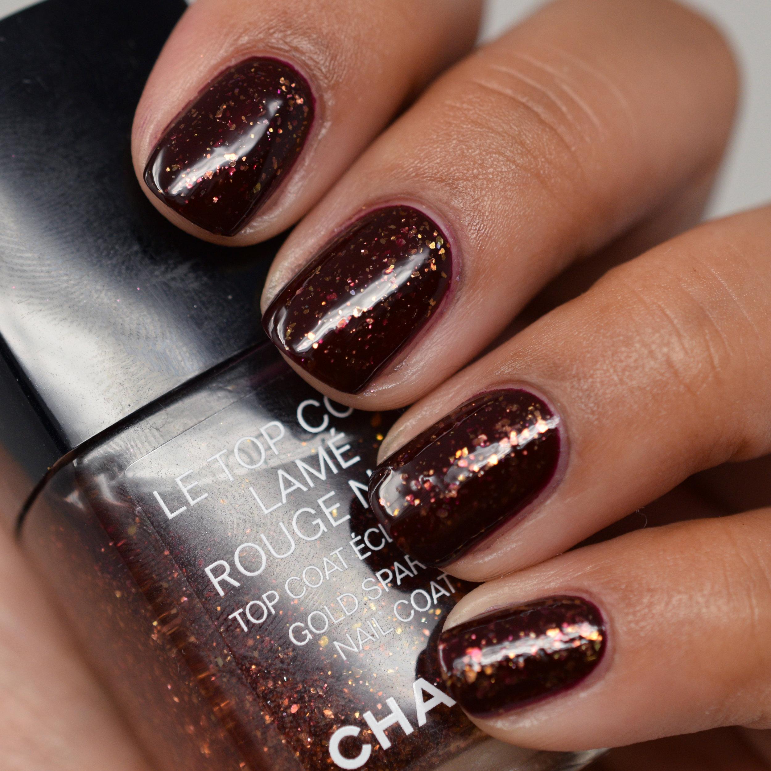 Chanel Le Top Coat Lame Rouge over Rouge Noir.jpg