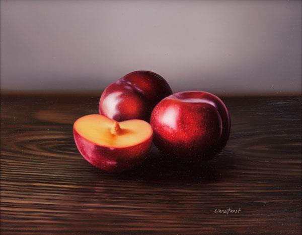 Three Plums    Oil on Panel 9x12 SOLD