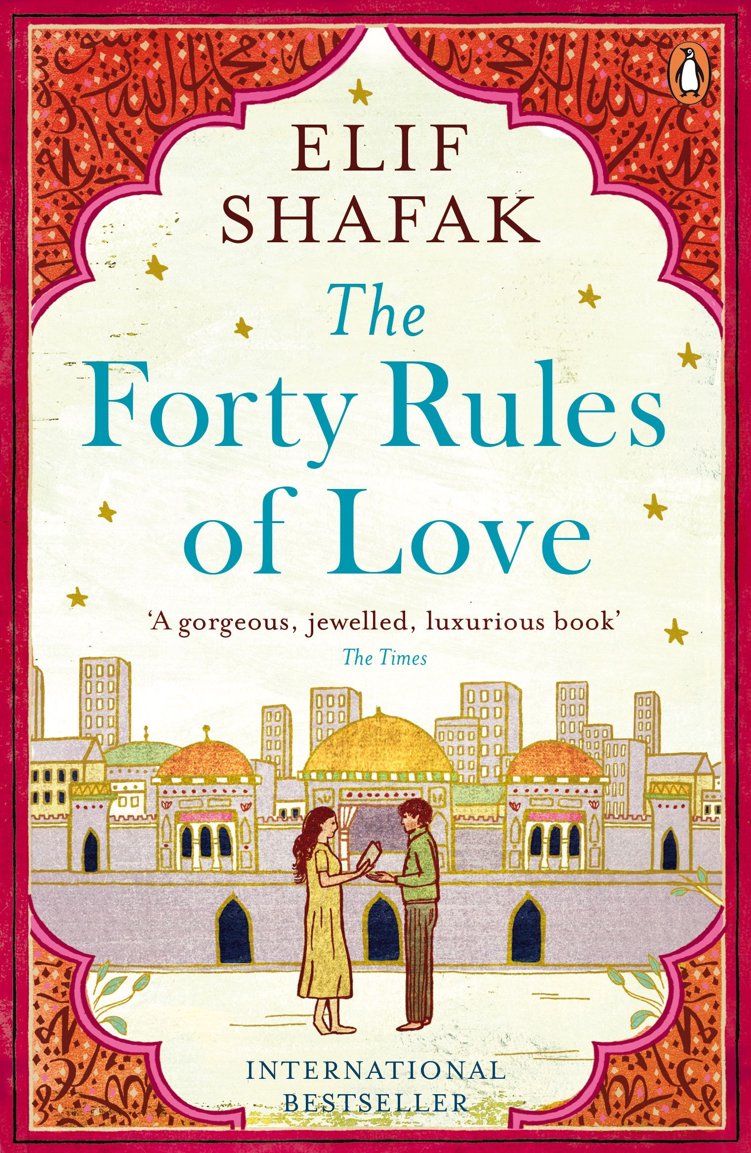 The Forty Rules of Love by Elif Shafak - Everyone needs a tear-jerking love story on their bookshelf. Elif Shafak's, The Forty Rules Of Love. A stunning tale of the Sufi mystic, Rumi, and the friendship that led him to become the greatest poet of our time, told through the eyes of a housewife.