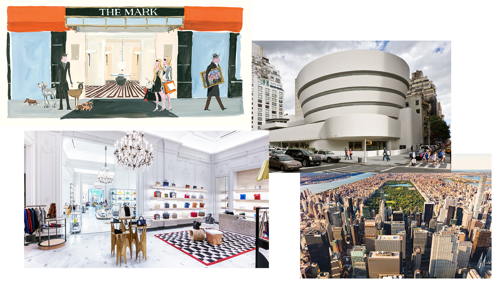 Image Source:  The Mark Hotel ,  The Guggenheim ,  Addicted to Retail