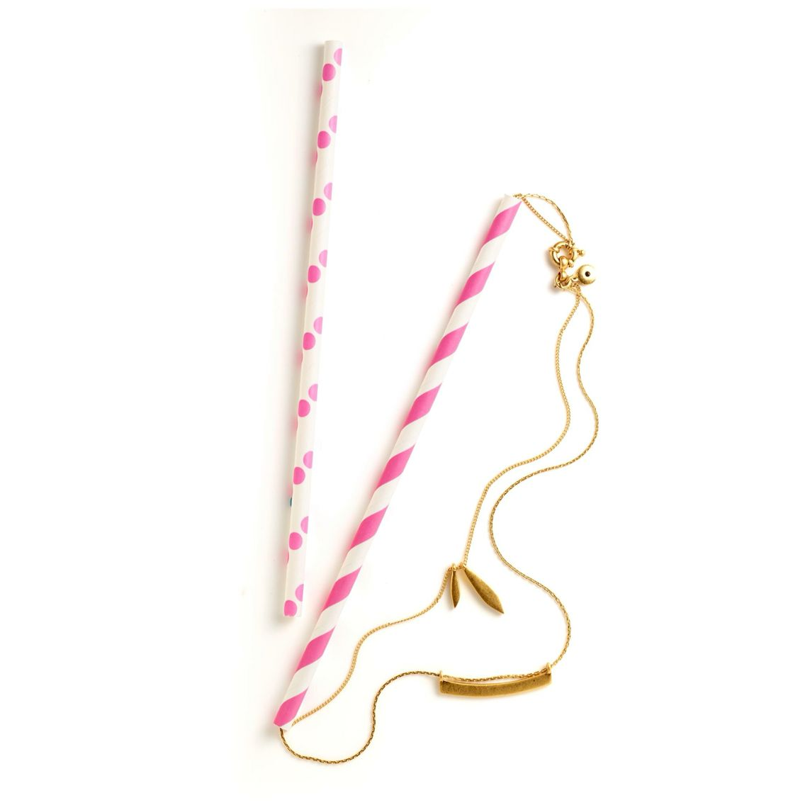 Avoid Tangled Necklaces - Use a Paper or Steel Straw to Keep Necklaces Sorted - NO Plastic Straws!
