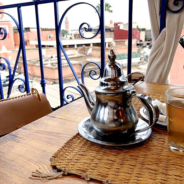 TEA BREAK AT A MEDINA CAFÉ