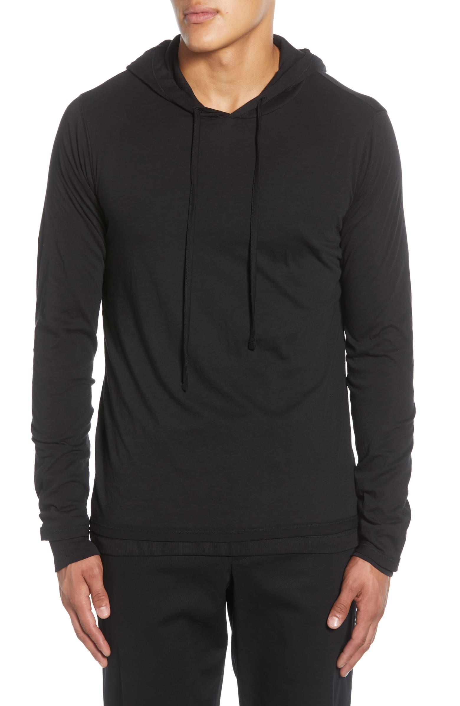 Double Layer Pullover Hoodie Vince