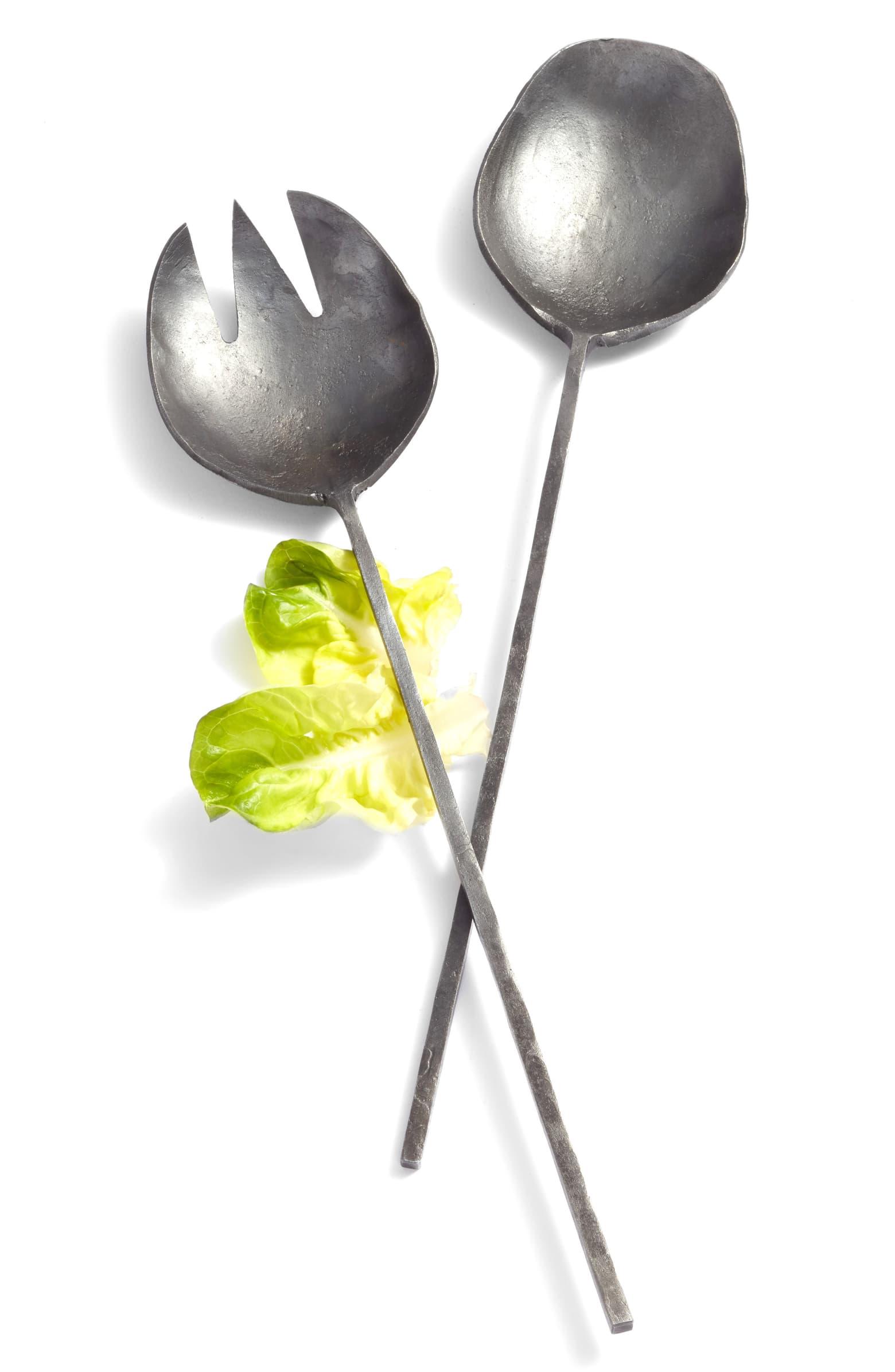 Forged Iron Salad Servers