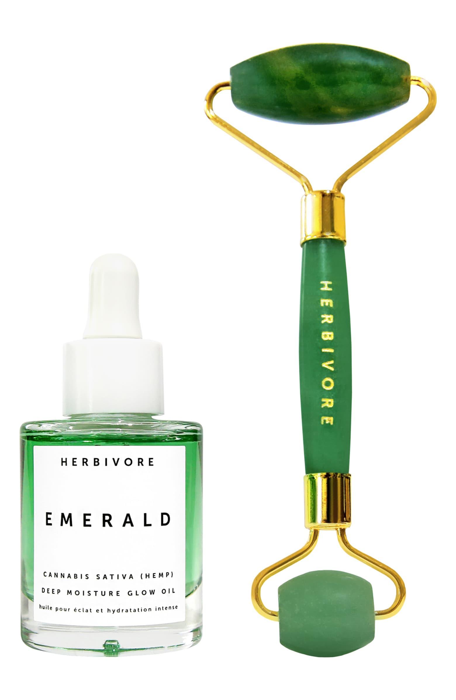 Herbivore Botanicals Emerald Oil + Jade Roller