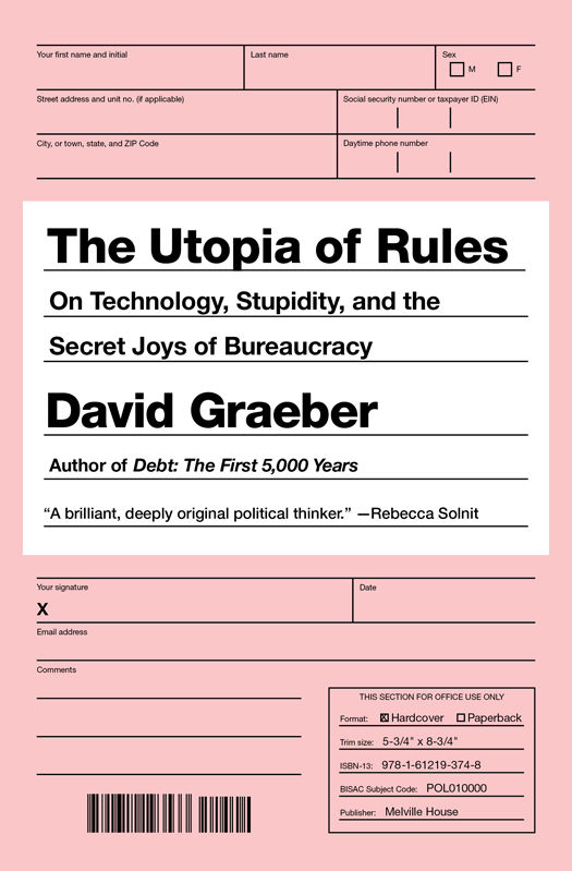 The Utopia of Rules: On Technology, Stupidity, and the Secret Joys of Bureaucracy - Now, based on the title you may be wondering why we would even suggest such an antithesis of a title; don't we have enough anxiety!? However, this book by anthropologist, David Graeber takes you through just why our system loves its paperwork, the need and sometimes the desire for regulations, and how we should start imagining a freer world for ourselves. It's a real eye-opener so be sure to brew the coffee in advance, you'll need it.
