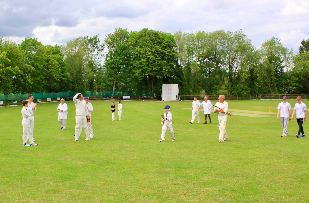 North Dean leave the field for a well earned tea after setting Speen CC an impossible innings to follow!