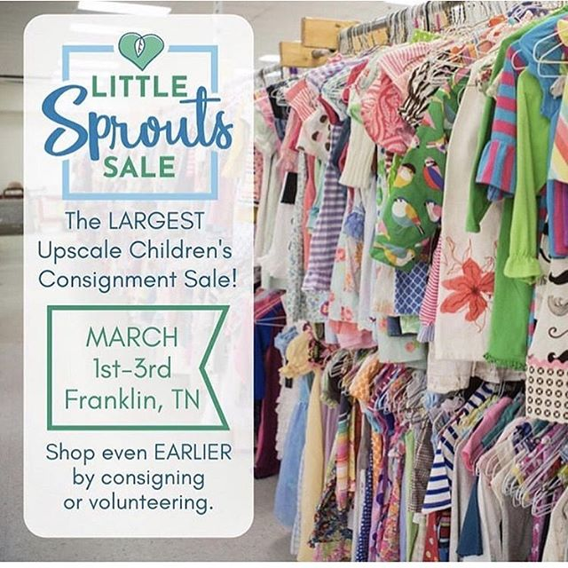 t's time!!!! We can't wait for the @littlesproutstn Spring Sale. Come out March 1-3 with your lists ready and may the best Mom win! . I sat down yesterday and worked on my list. It mainly revolves around shoes! What are the main items you look for win hitting a consignment sale?