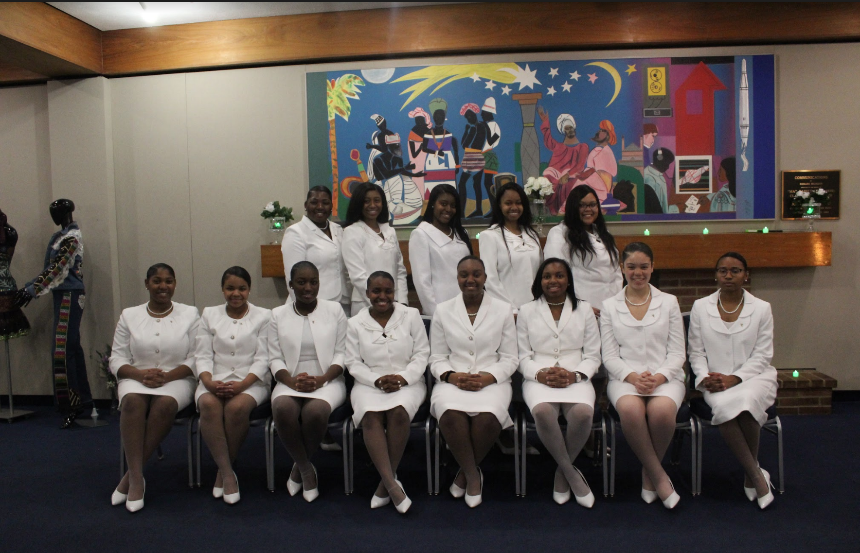 April 5th, 2018  (Back Row): Charrae Preister, Ariel Berry, Ninti Alfred, Cheryl Denise Dedmon, Dophiadie Pierre  (Front Row): Torin A. Collins, Jayda Jackson, Dominique Anoh, Elahé Williams, Zaria J. Huggins, ShirBriya Fletcher, Mykela DeVille, Victoria A. Russell
