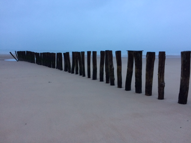 The beach at Calais on a late afternoon in February