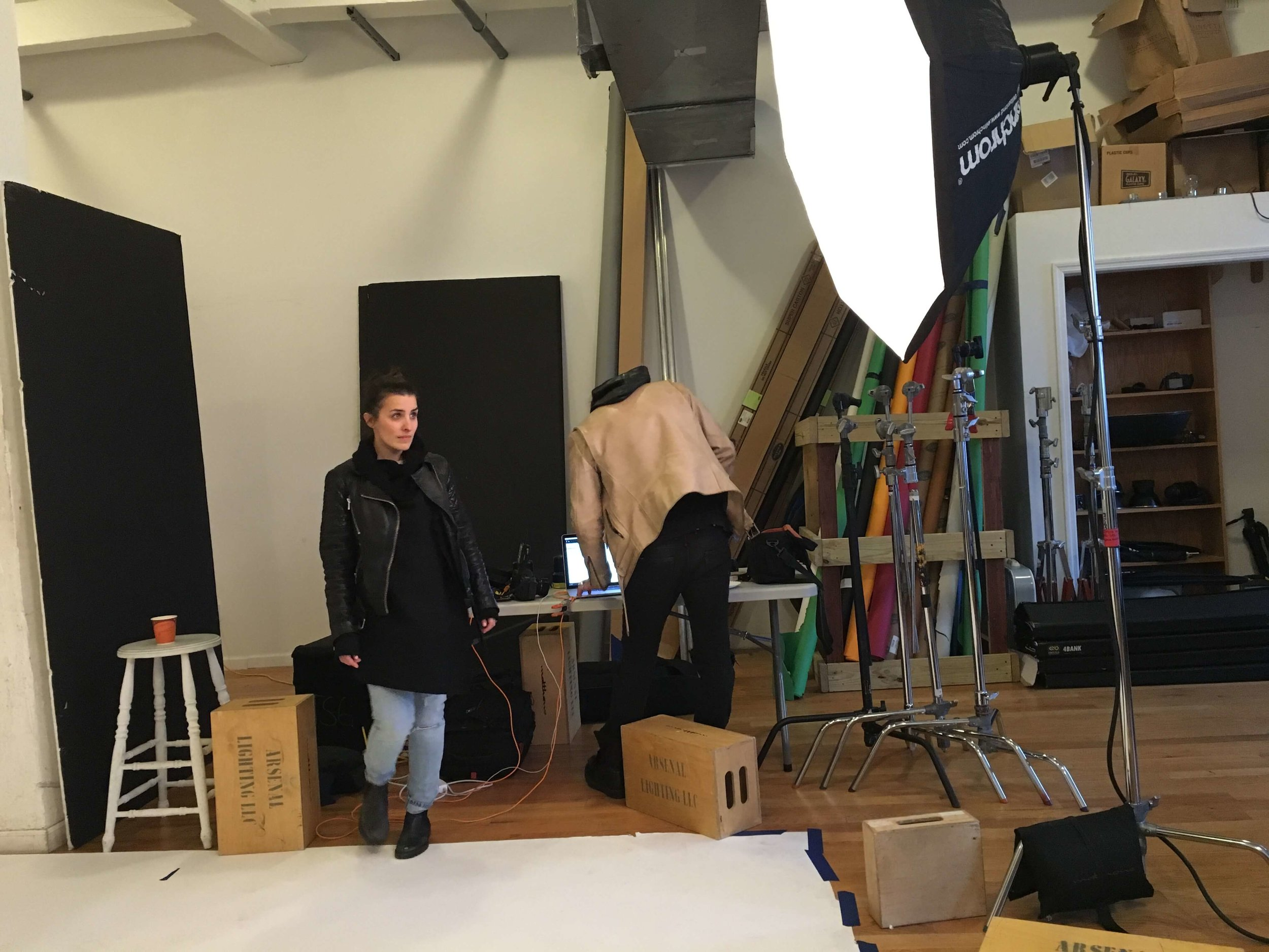 Sophia Wallace and Nathan Manuel at the photo rental studio NYC