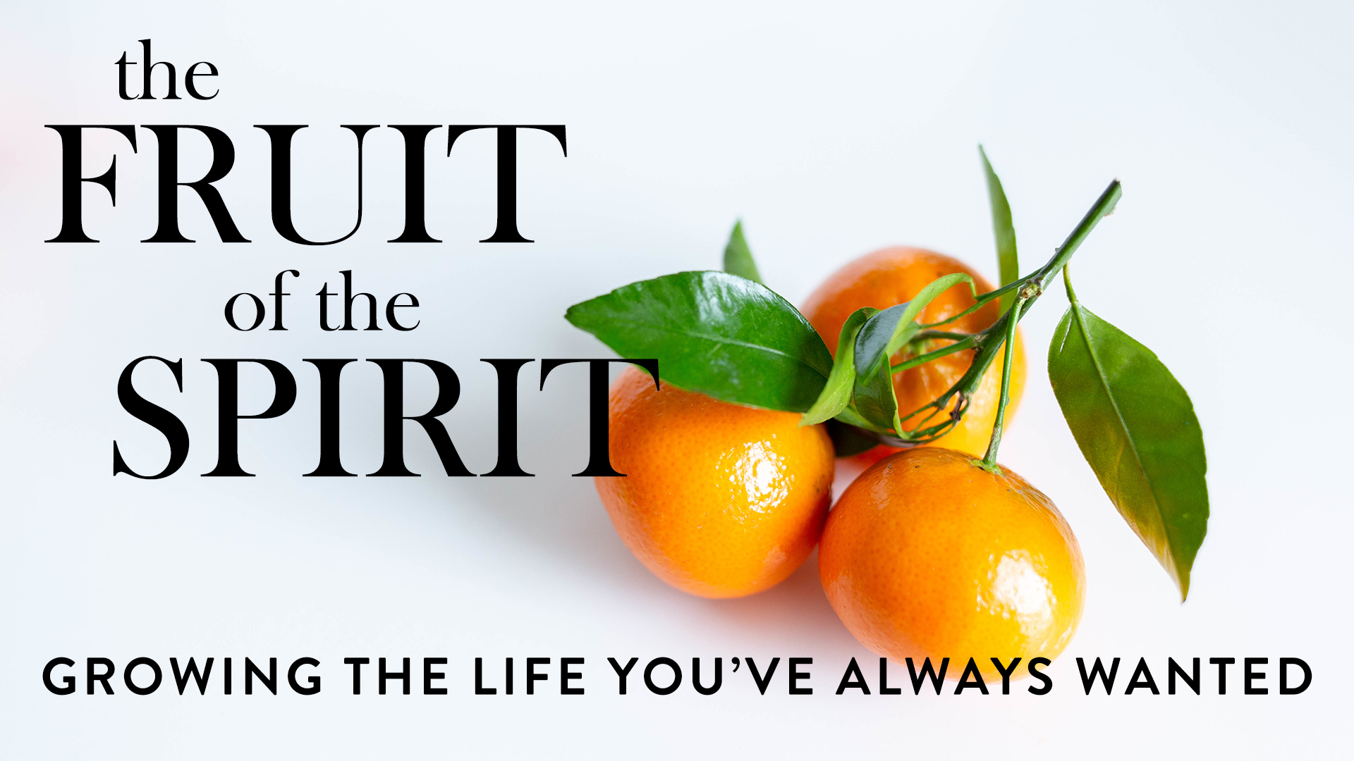 The Fruit of the Spirit - March 3, 2019 - May 12, 2019