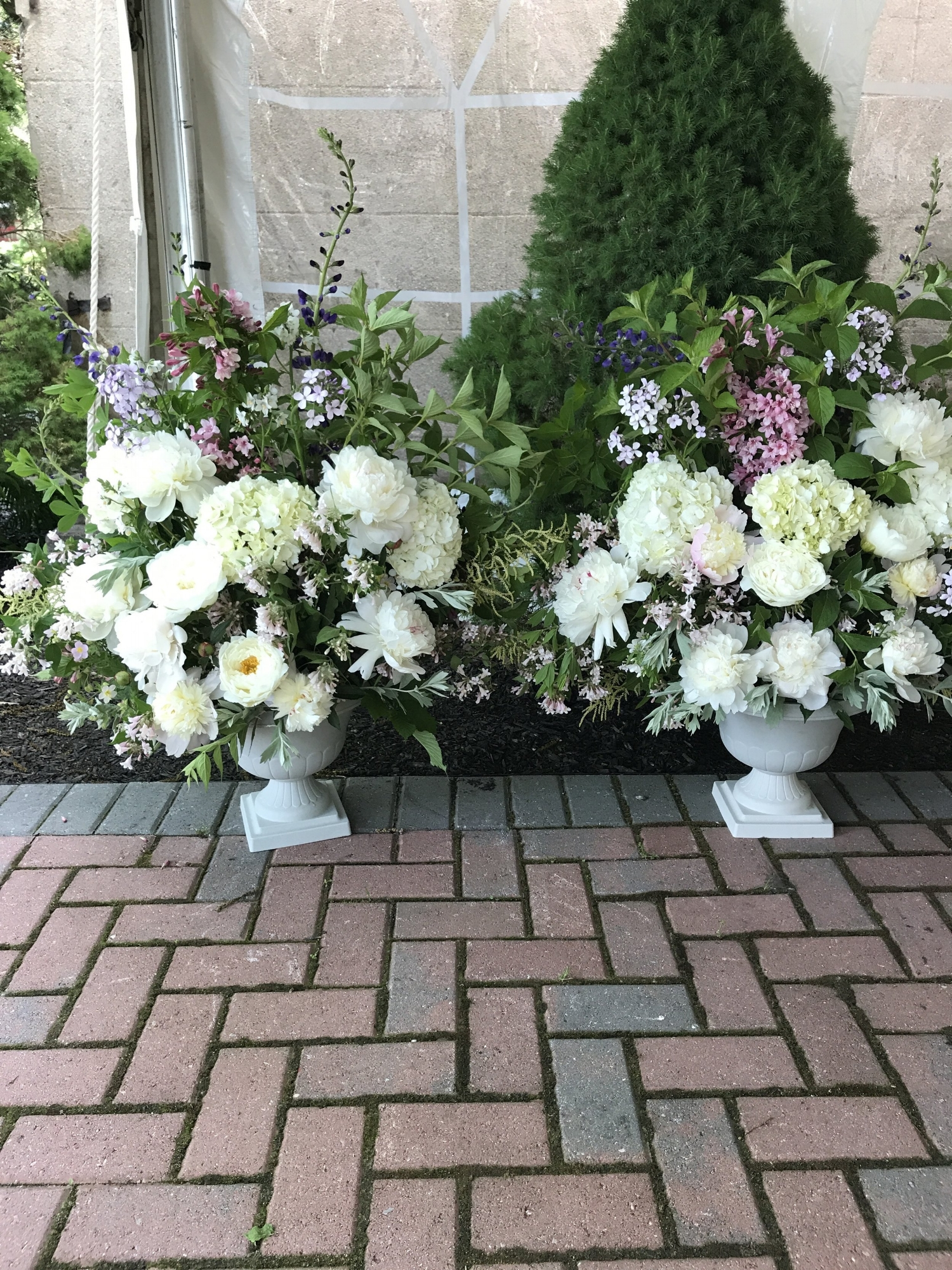 Early June Church Urns
