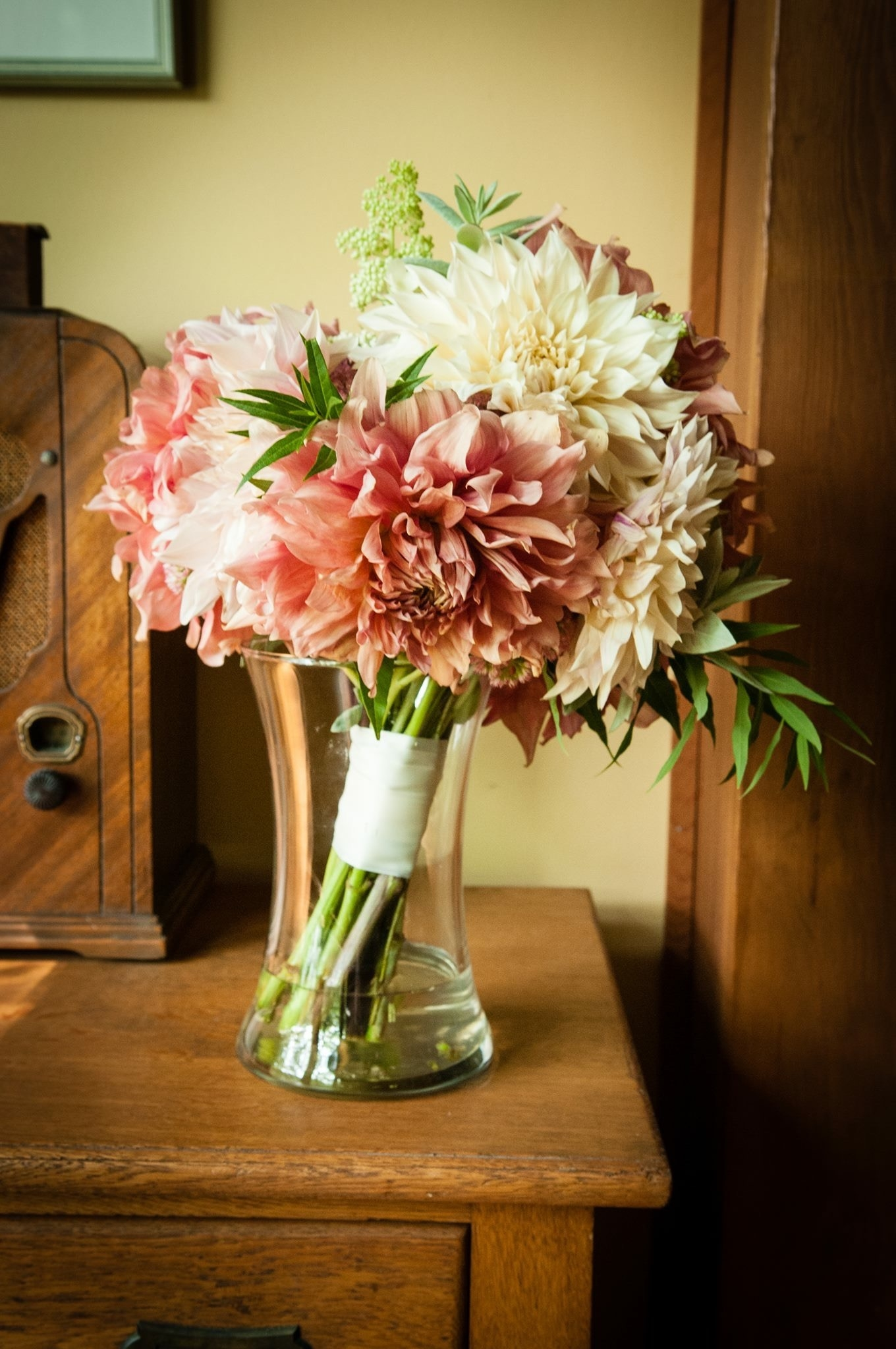September Bridal Bouquet of Dahlias
