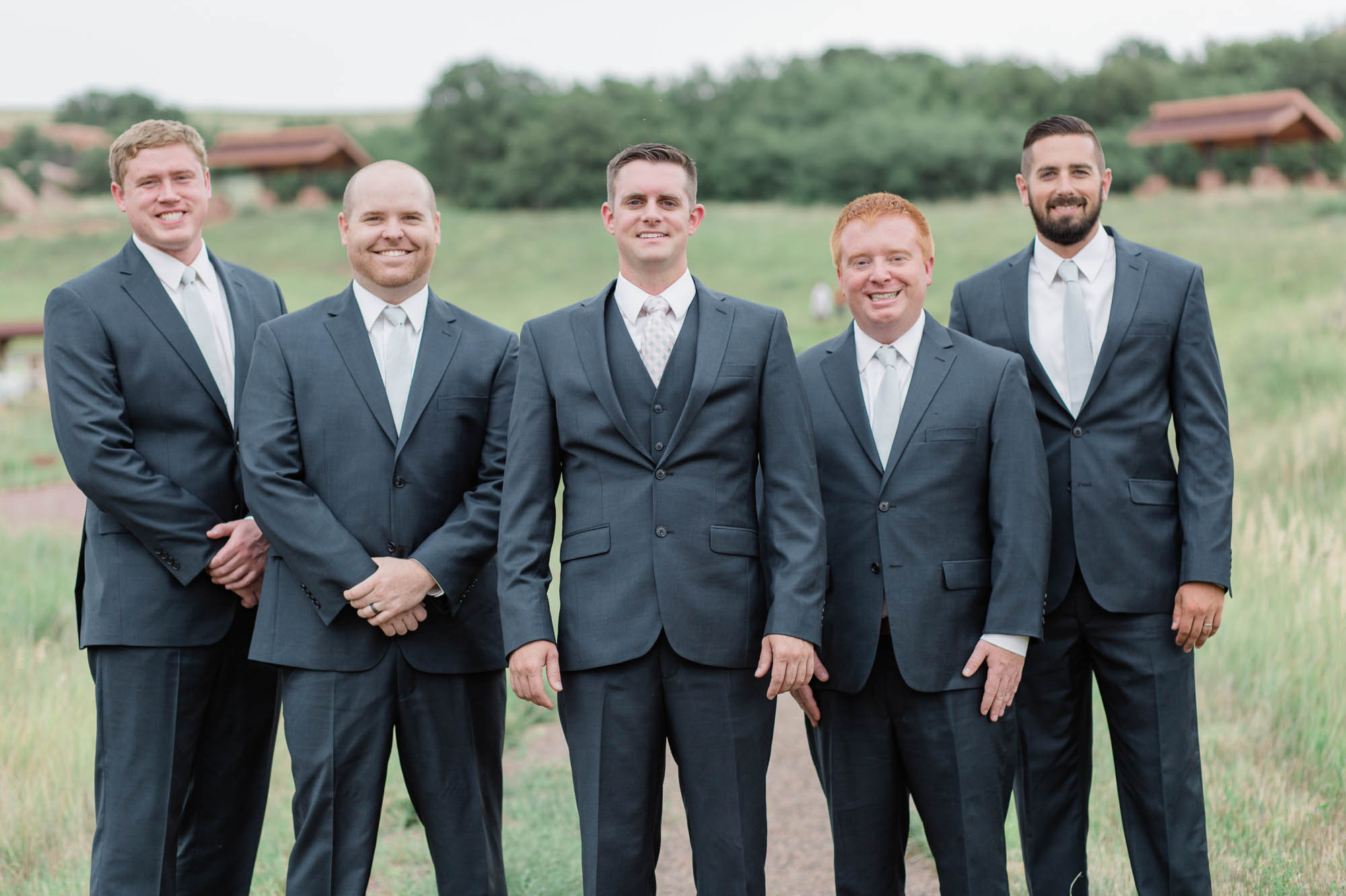 South Valley Park Groomsmen Photography