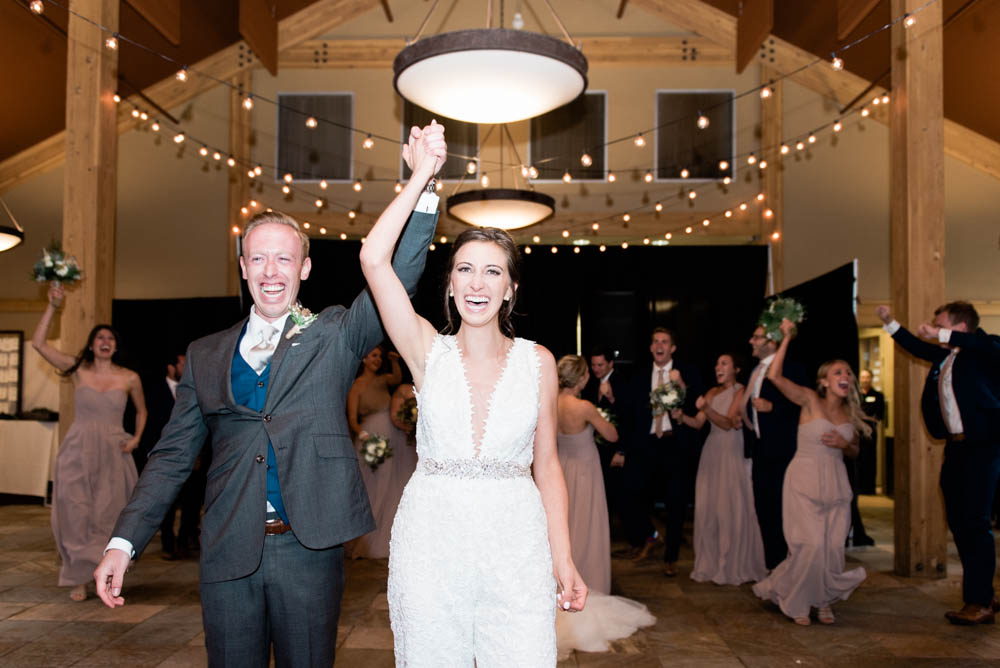 High Alpine Mountain Wedding Reception Grand Entrance
