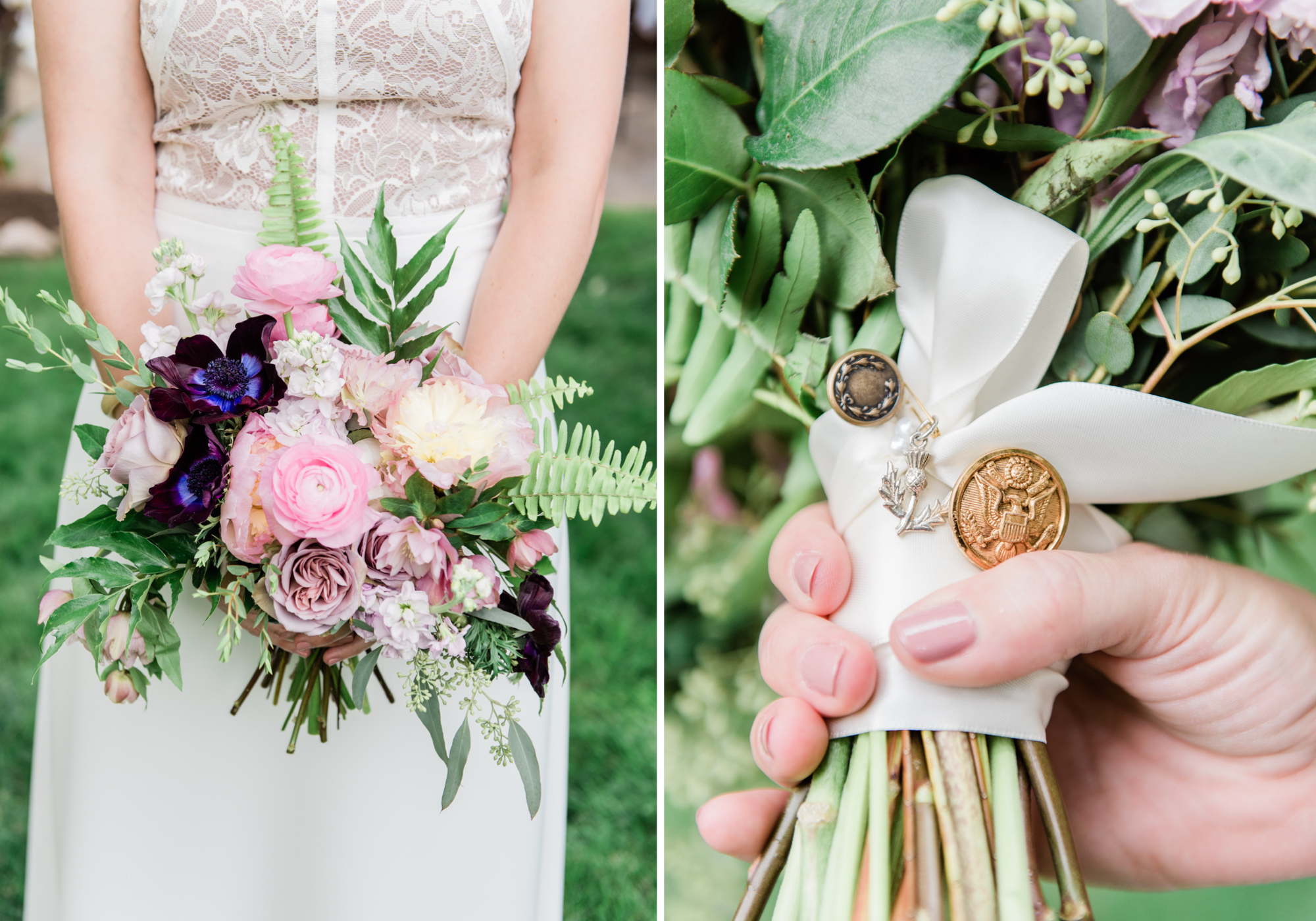 Bridal Bouquet customized with personal touches.