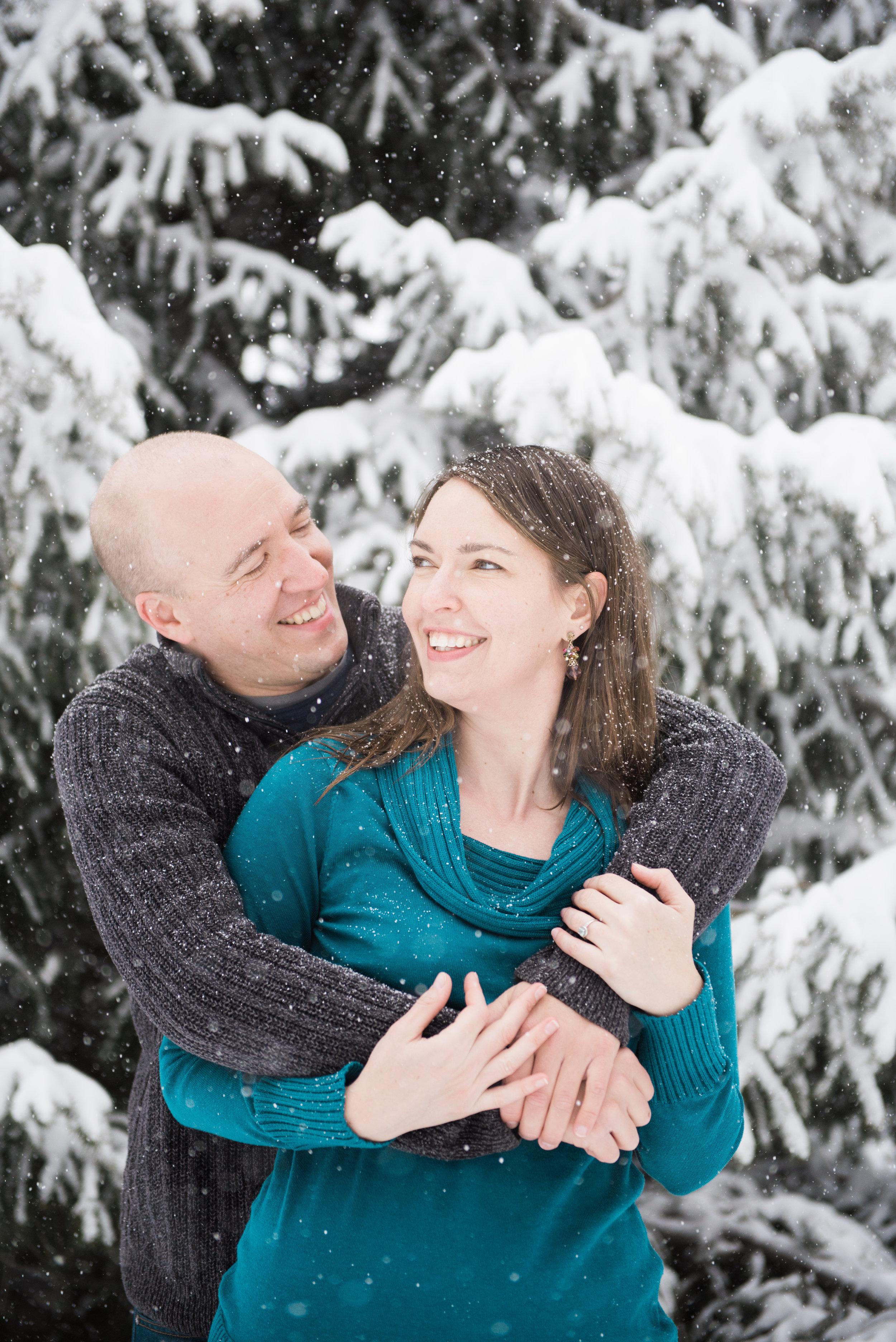 Snowy Boulder Engagement - Emily & Joe