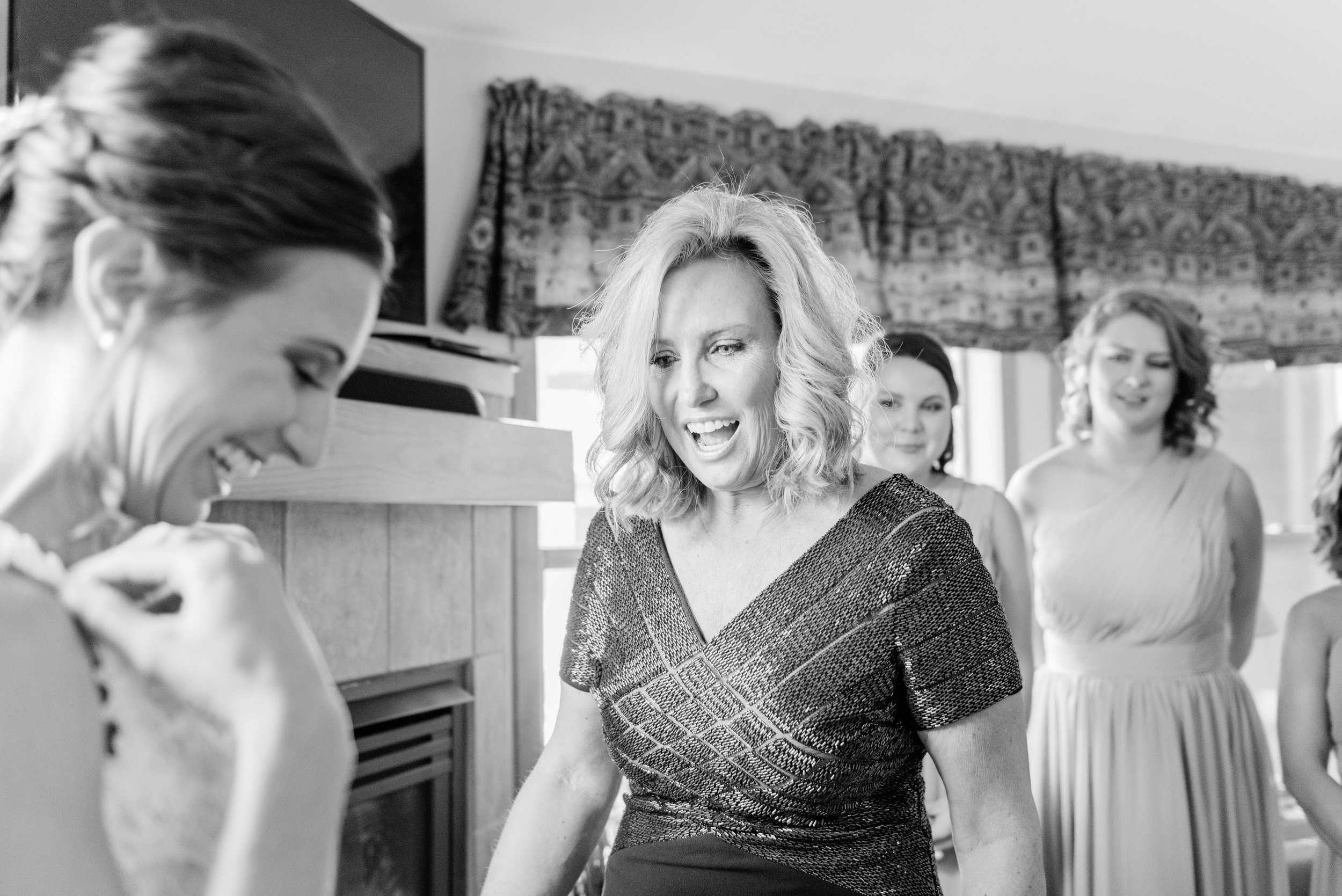 Mother of the bride is excited at Keystone, Colorado