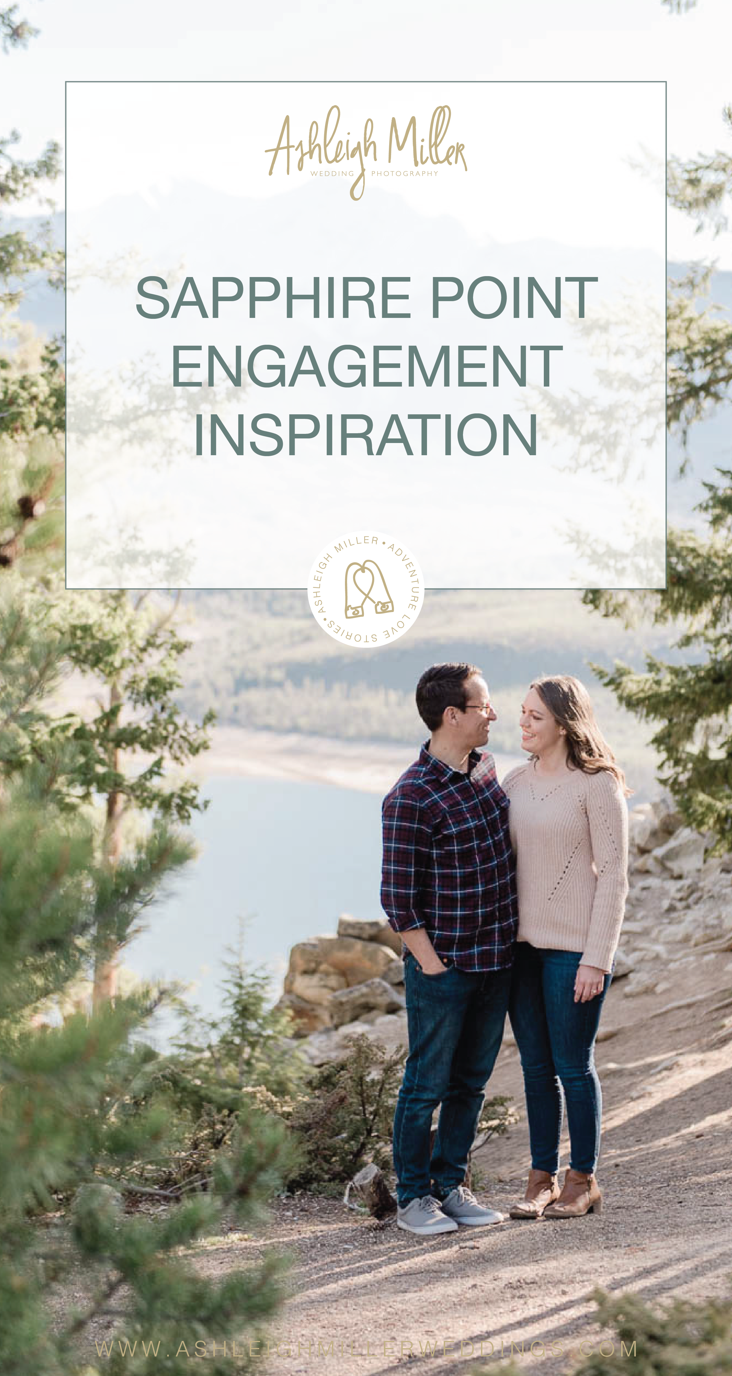 Colorado hiking adventure engagement session inspiration on a mountain lake. This Sapphire Point Engagment Session was perfect with plaid, sweaters, jeans, alpine lake, forests and love. Ashleigh Miller Wedding and Elopement Photographer serving Denver, Breckenridge, Summit, Dillion, Silverthorn, Telluride, Ouray and Boulder.