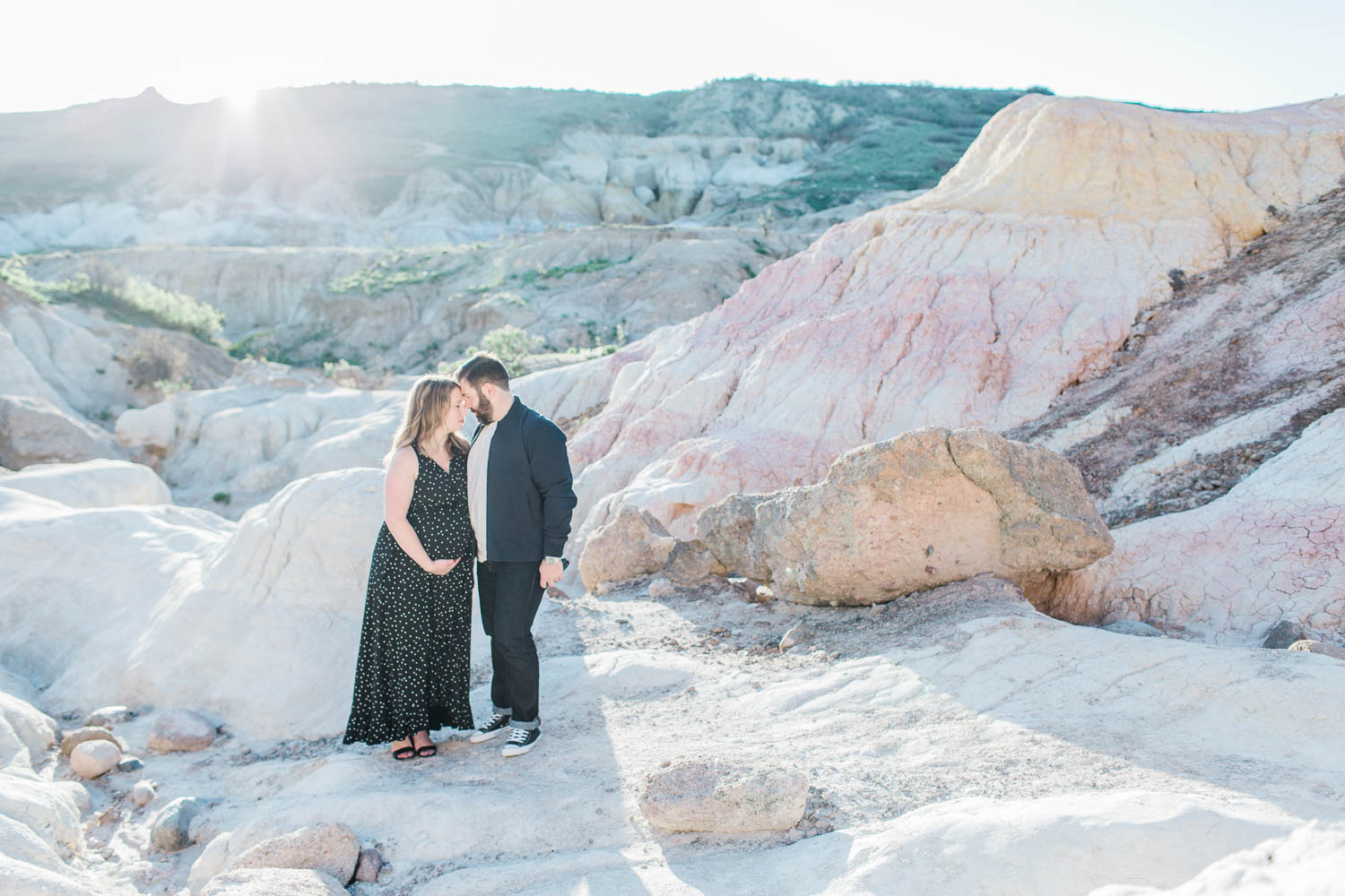 Colorado Couple Portrait Photography Session in the Paint Mines