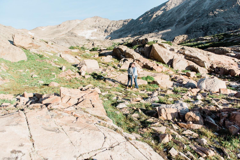 Alpine Lake Hiking Colorado Engagement Photography Session