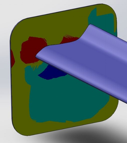 """Surface plot of 12""""12"""" endplate with 2"""" fillets"""
