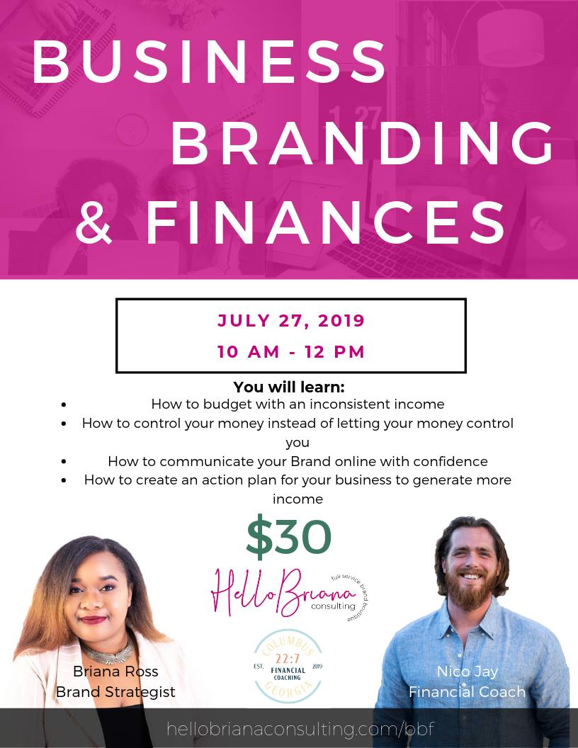 Business, Branding, & Finances