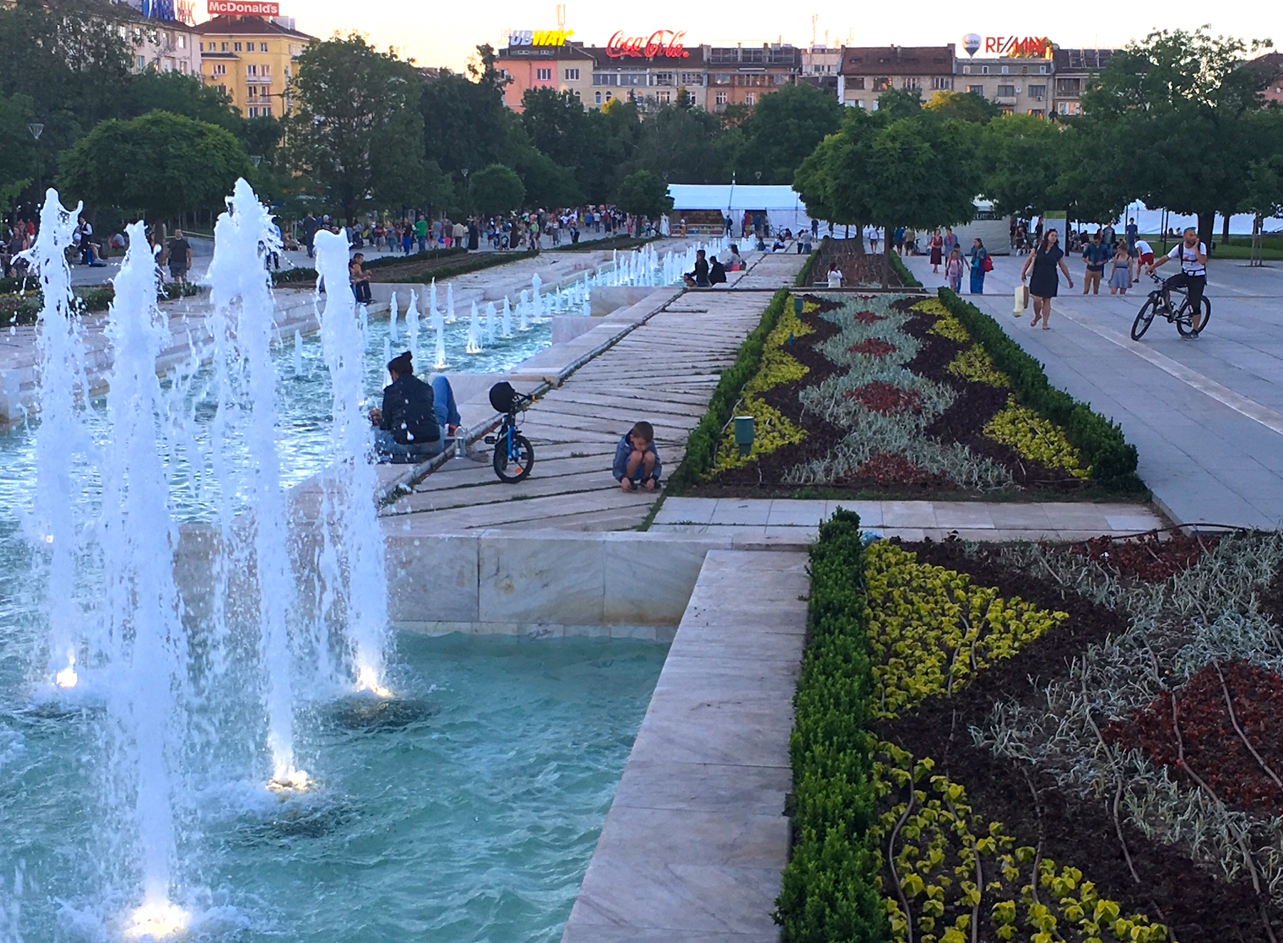 A beautiful May evening in Sofia.