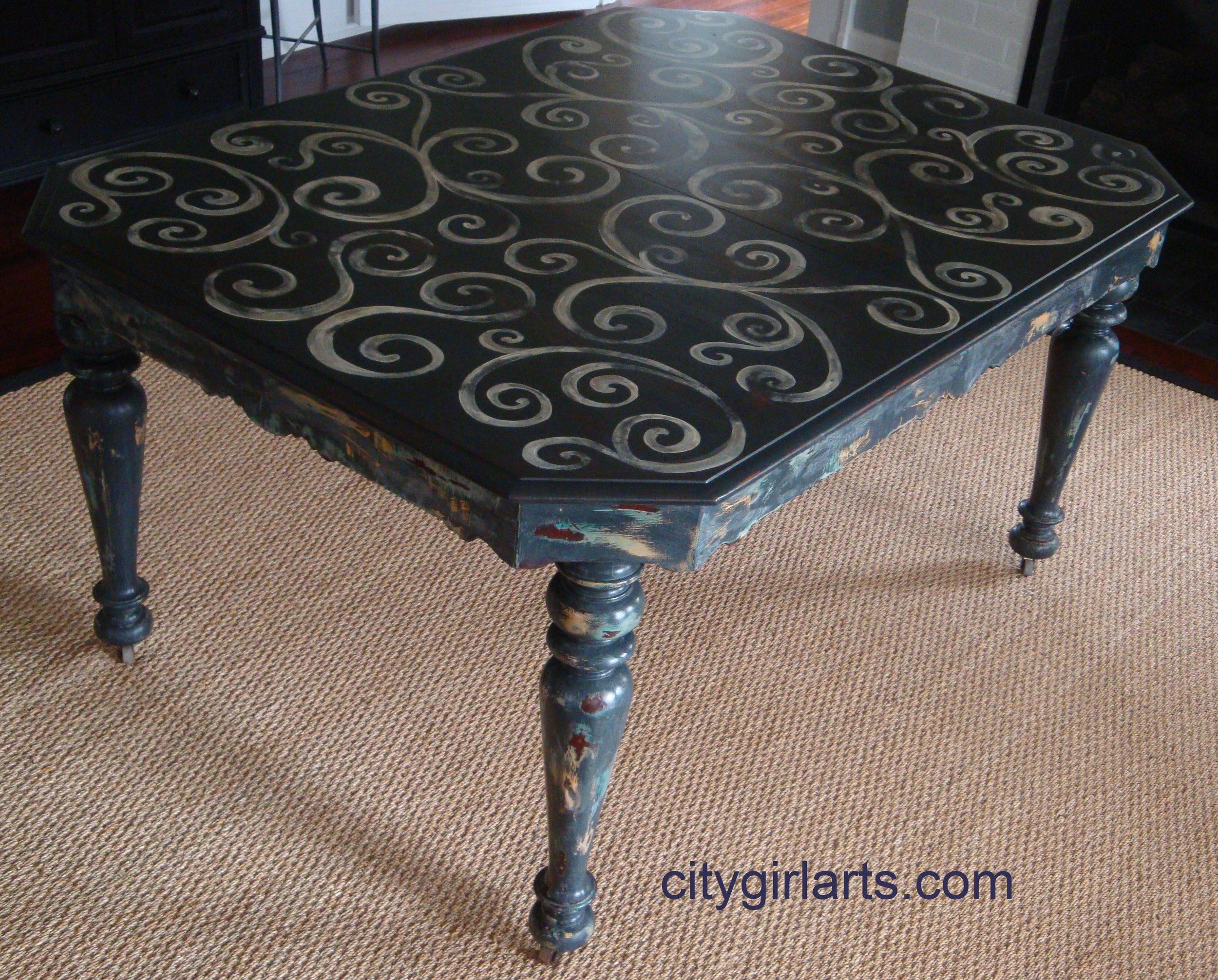 French Farm Swirl Table