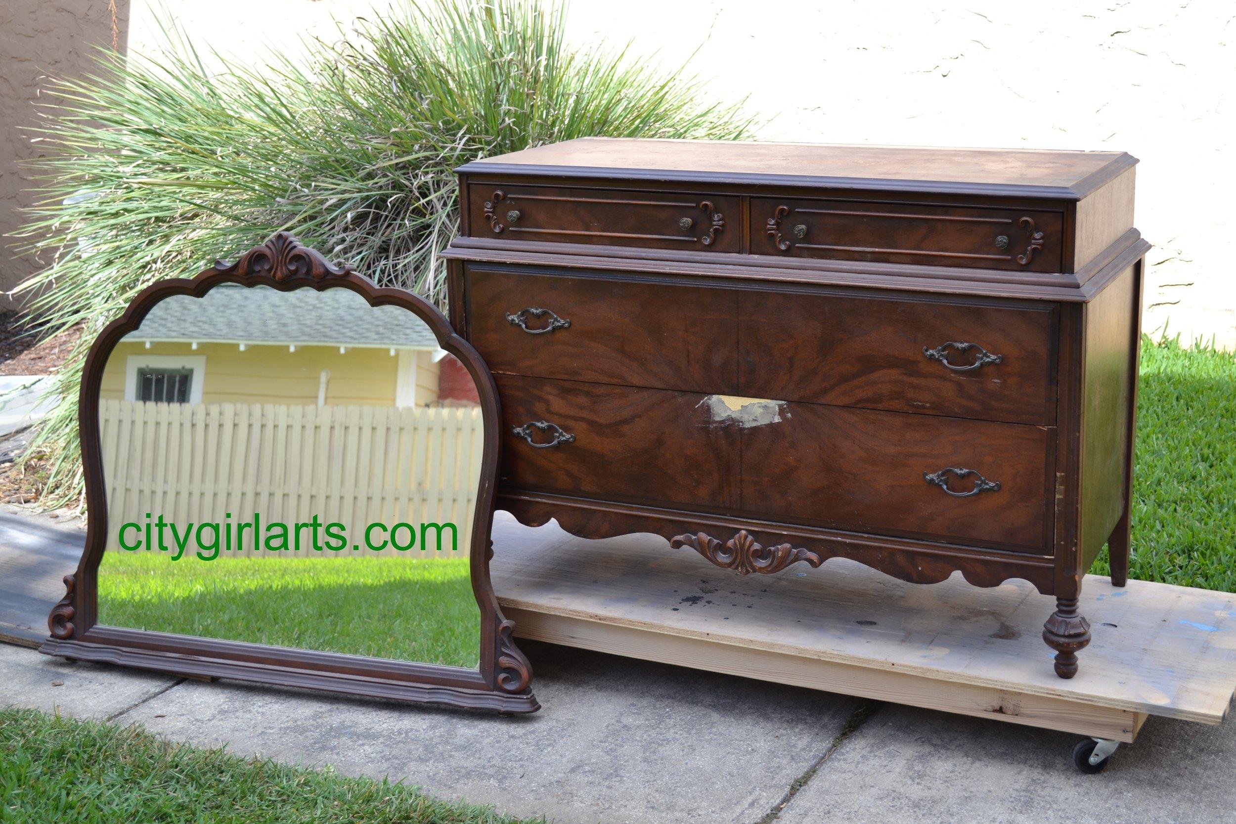 Flourish Dresser before