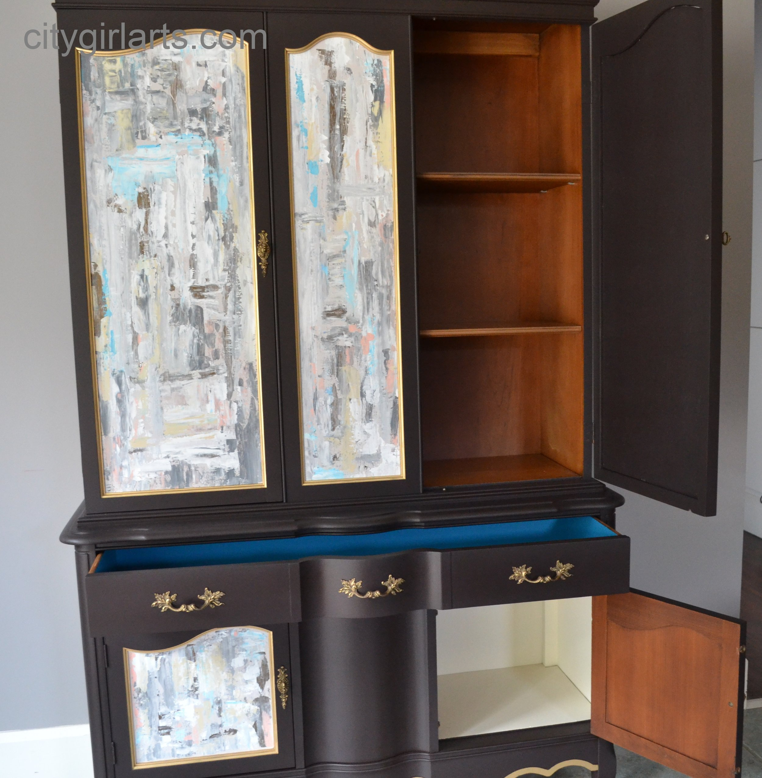 French Chocolate Cabinet Inside