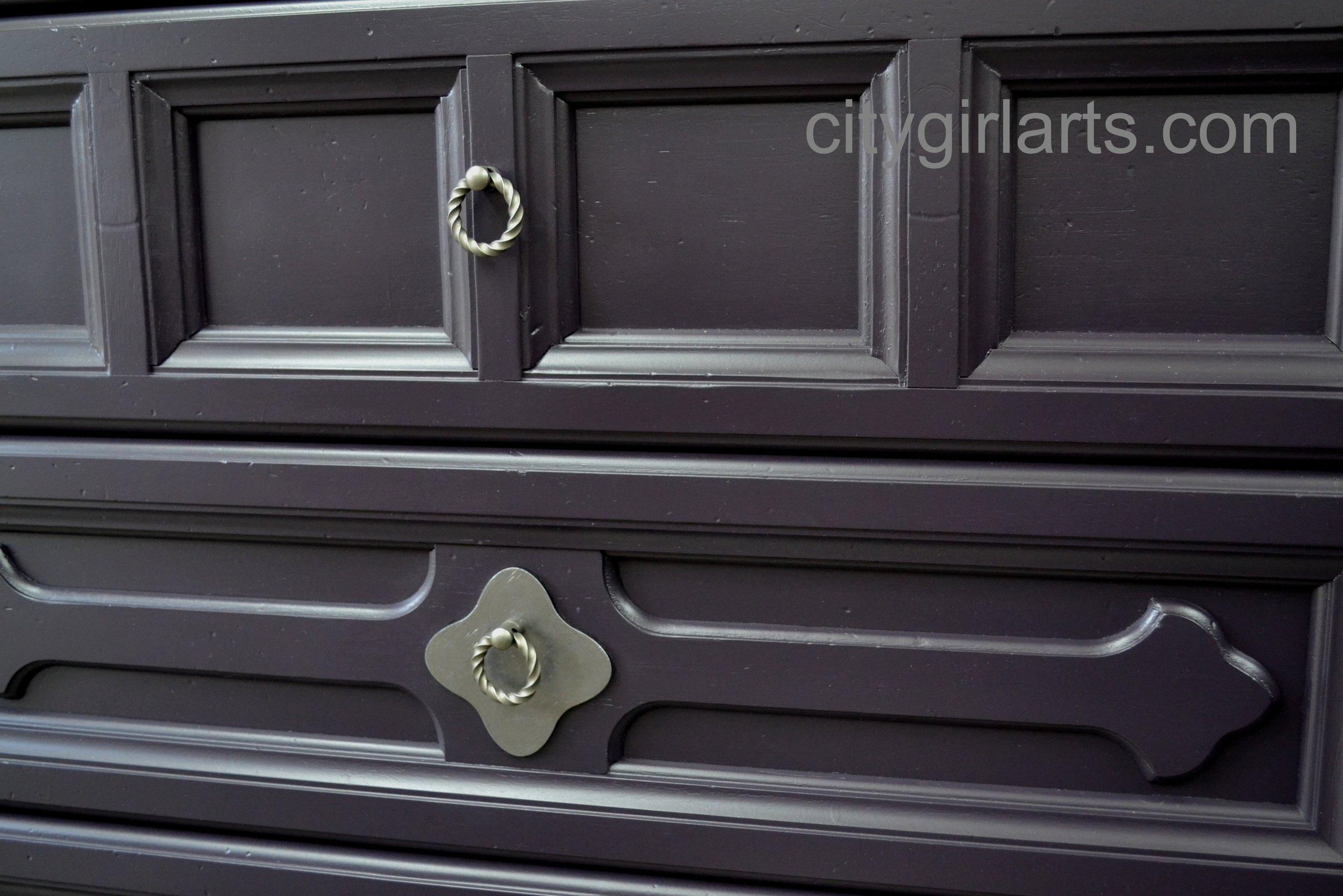 eggplant gothic Henredon dresser