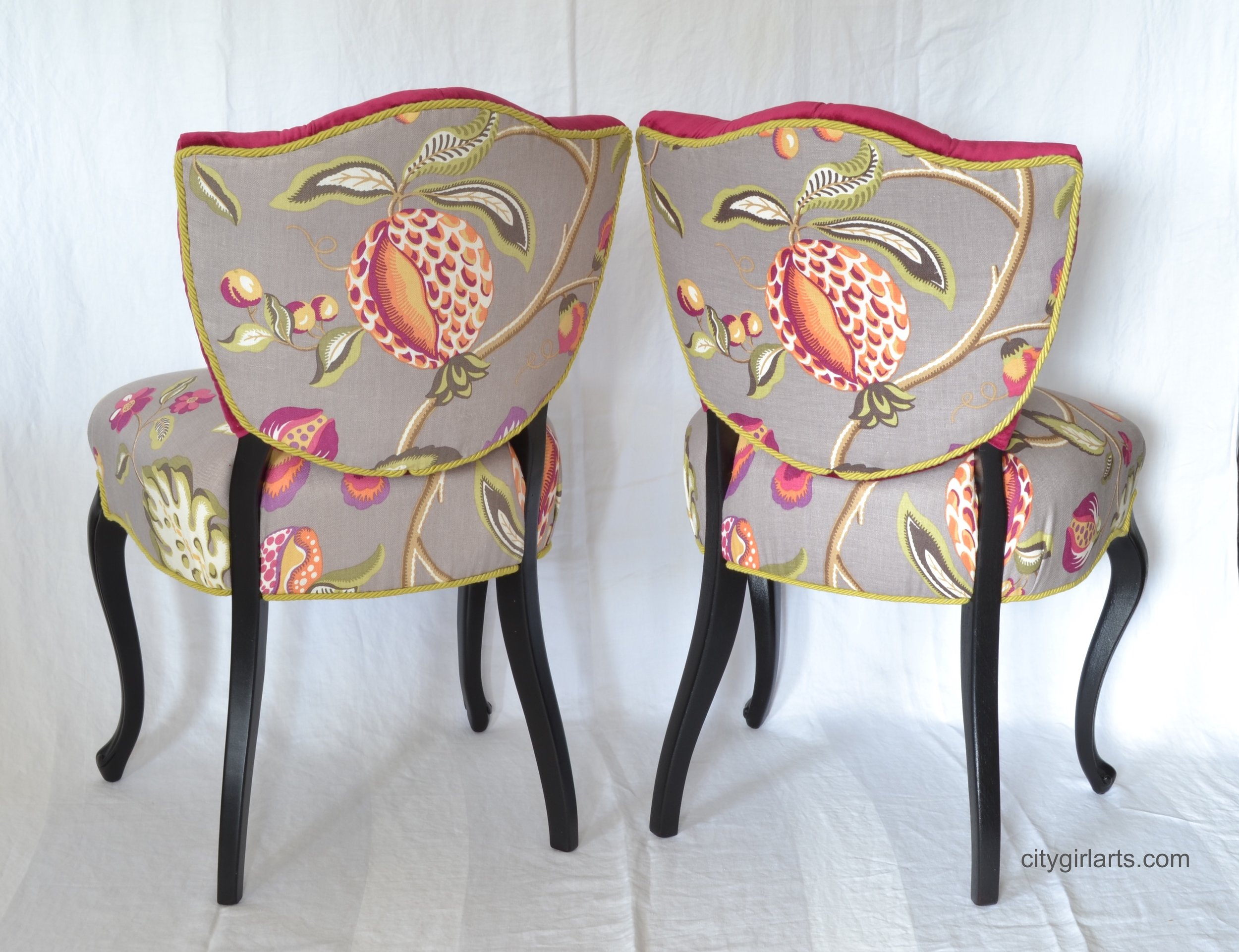 French Shield Back Chairs Backs