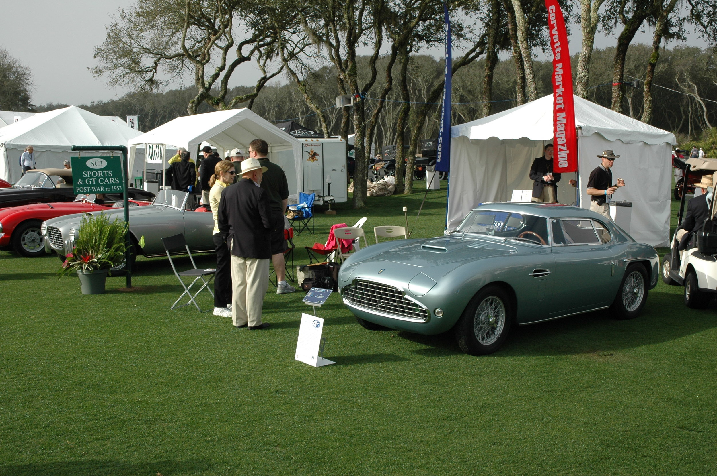 A pair of superb Siatas, 208BS Balbero Coupe in the foreground and that beautiful silver 208 coupe just left