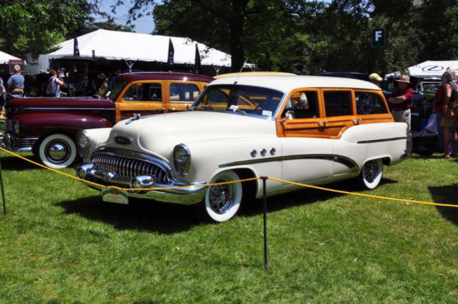 John Rolls 1953 Buick wagon, restored and award ready